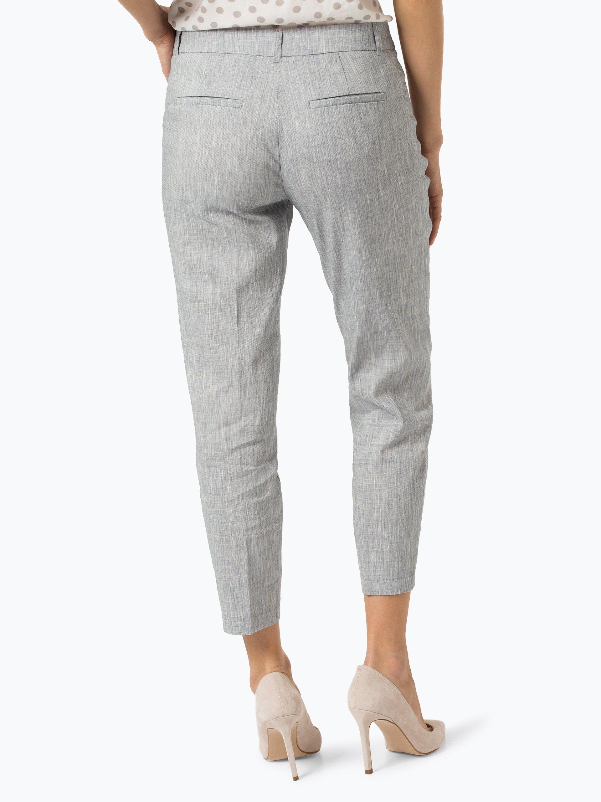 Taifun Spodnie damskie z dodatkiem lnu – Slim Peg Leg