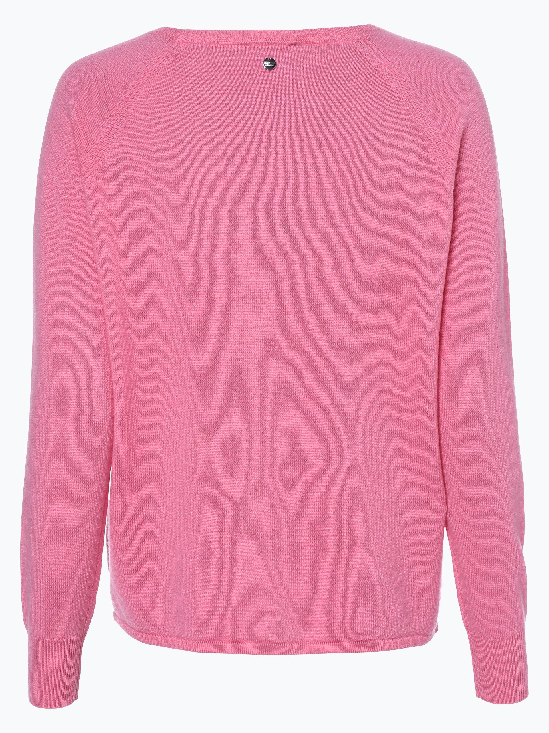 talk about damen pullover mit cashmere anteil rosa uni online kaufen vangraaf com. Black Bedroom Furniture Sets. Home Design Ideas