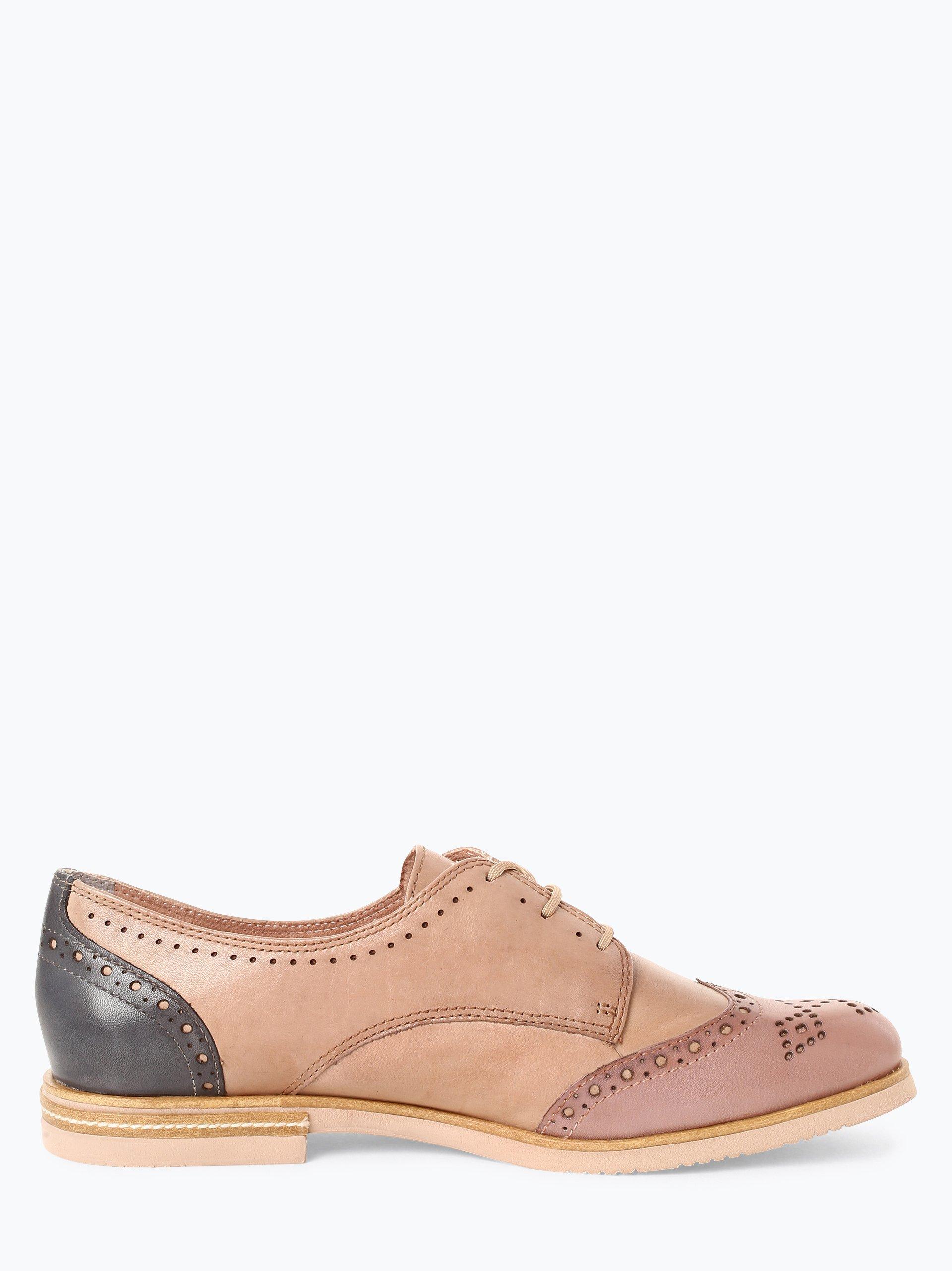 Tamaris Damskie buty sznurowane ze skóry