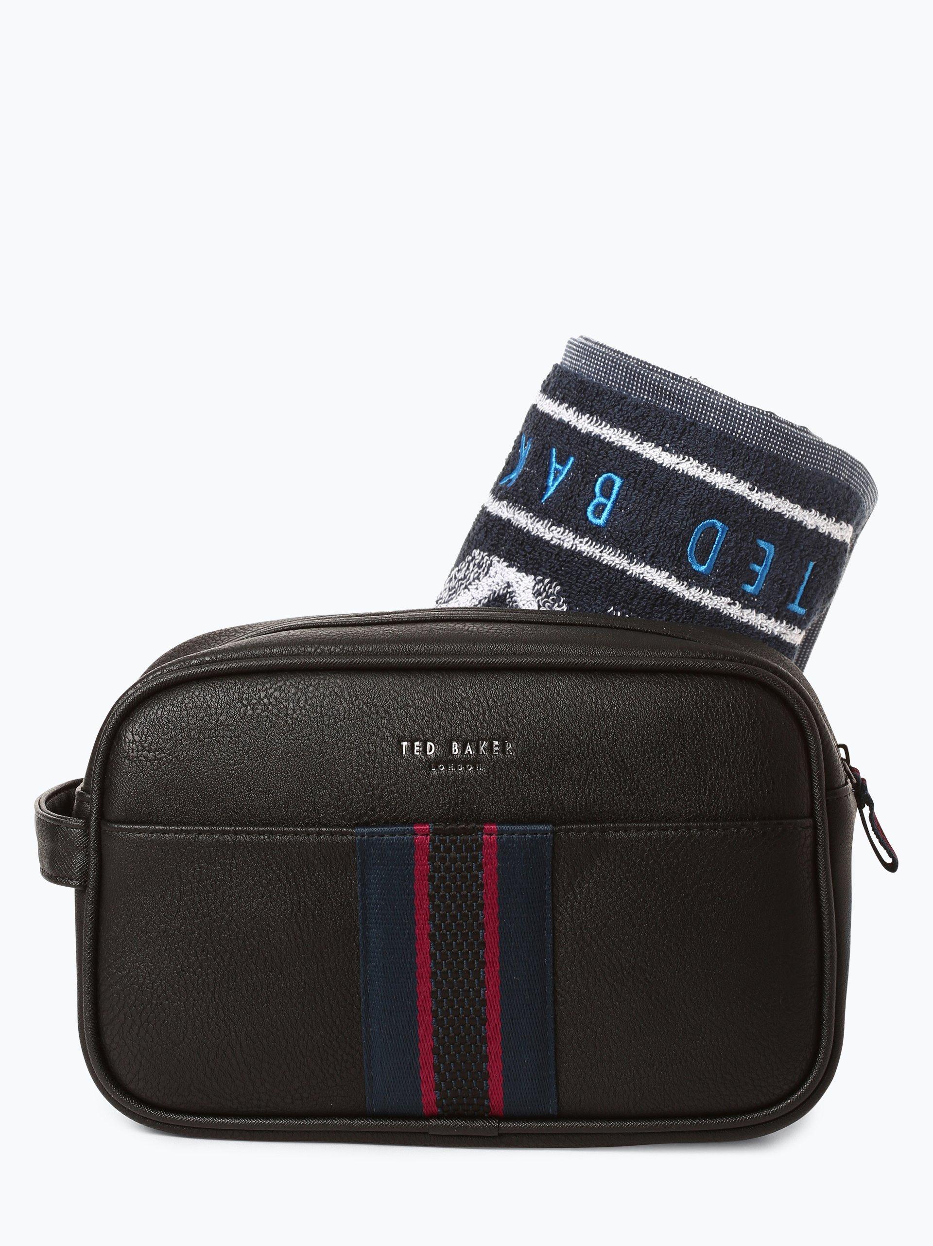 Ted Baker Herren Kulturtasche mit Handtuch - Smitset