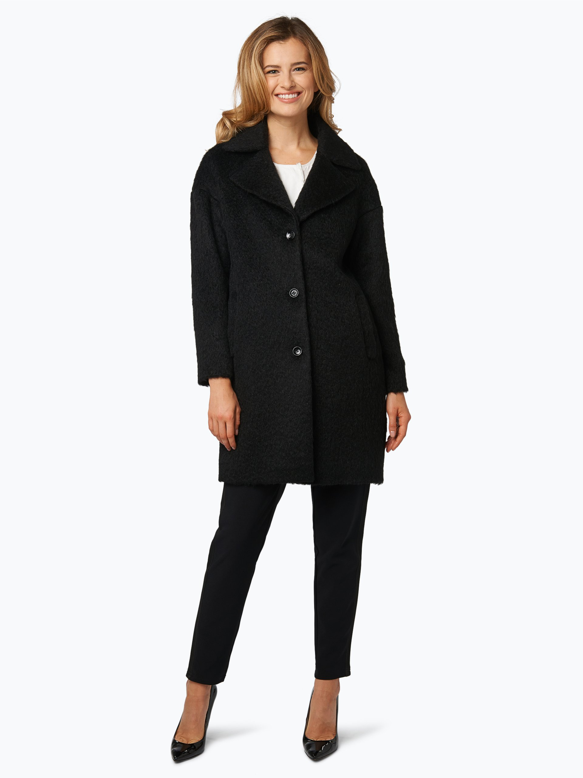 (THE MERCER) N.Y. Damski płaszcz wełniany z dodatkiem moheru