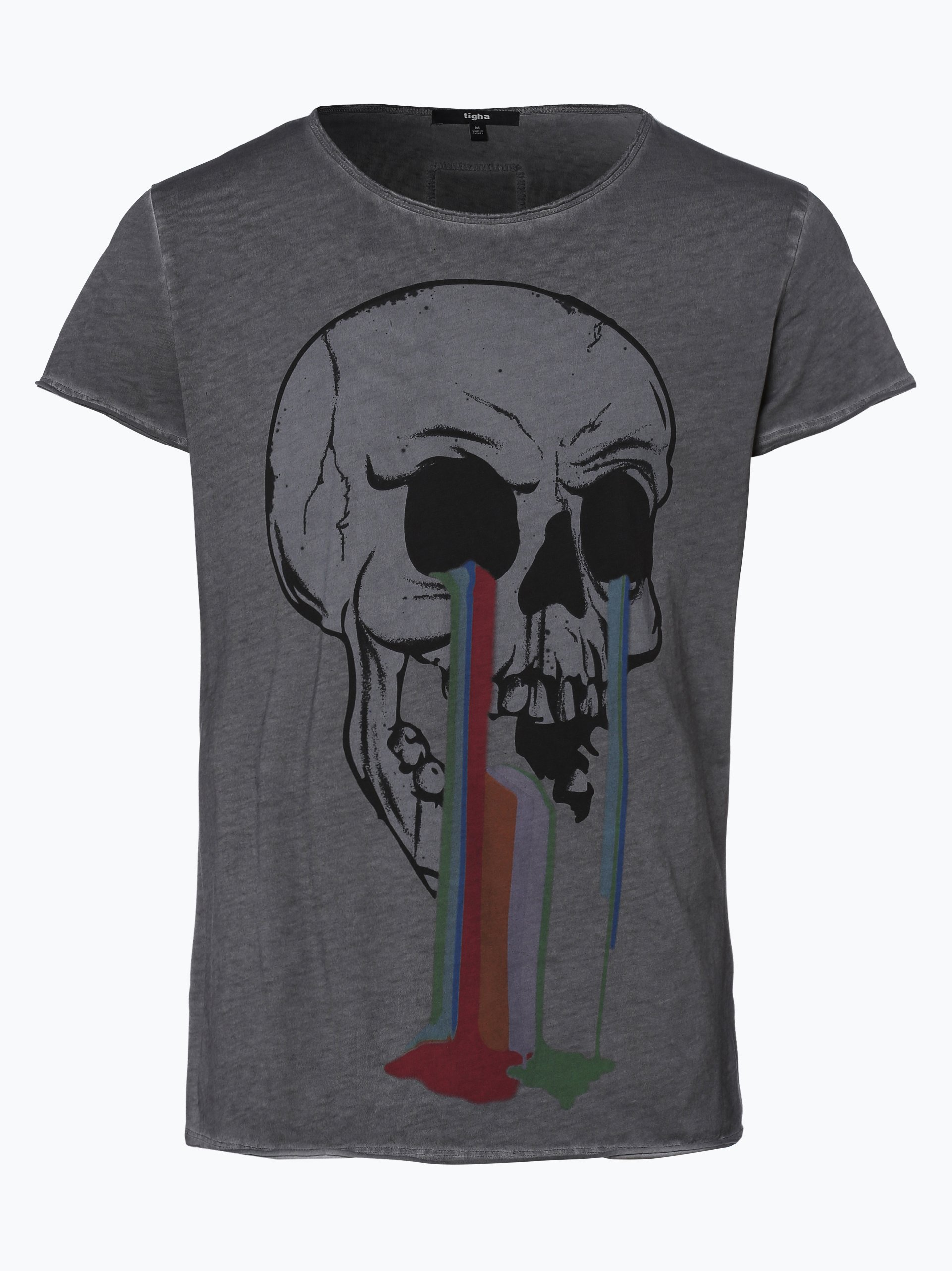 tigha herren t shirt dying skull anthrazit uni online. Black Bedroom Furniture Sets. Home Design Ideas