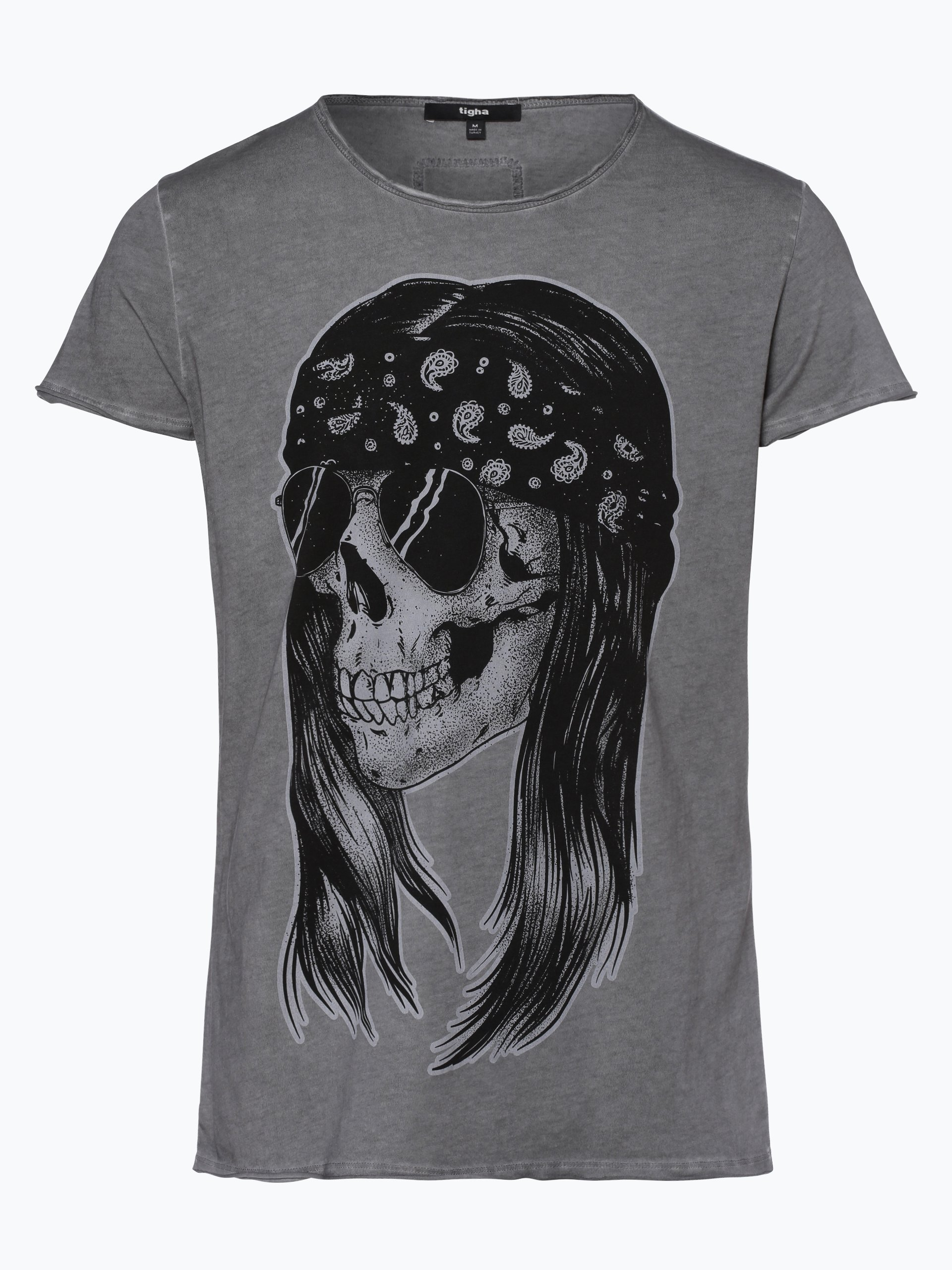 tigha herren t shirt skull n roll grau uni online kaufen. Black Bedroom Furniture Sets. Home Design Ideas