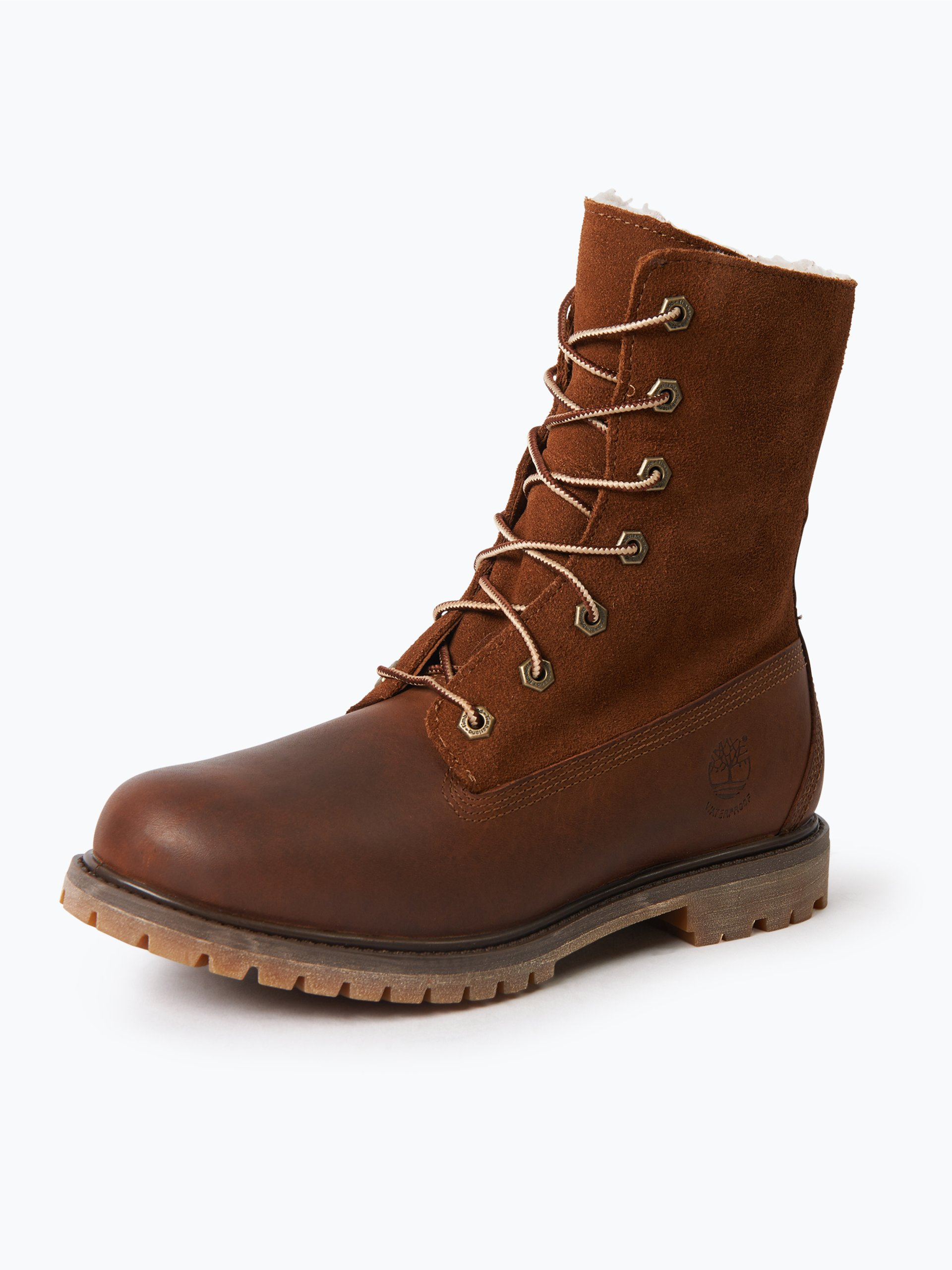 timberland damen boots aus leder braun uni online kaufen. Black Bedroom Furniture Sets. Home Design Ideas