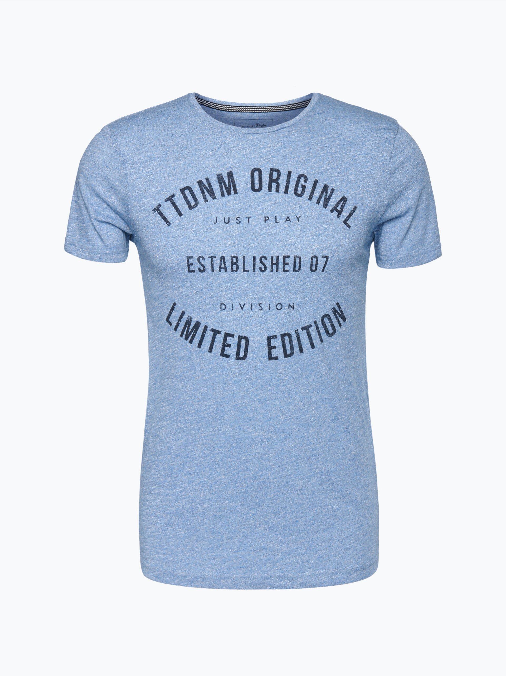 tom tailor denim herren t shirt blau uni online kaufen. Black Bedroom Furniture Sets. Home Design Ideas
