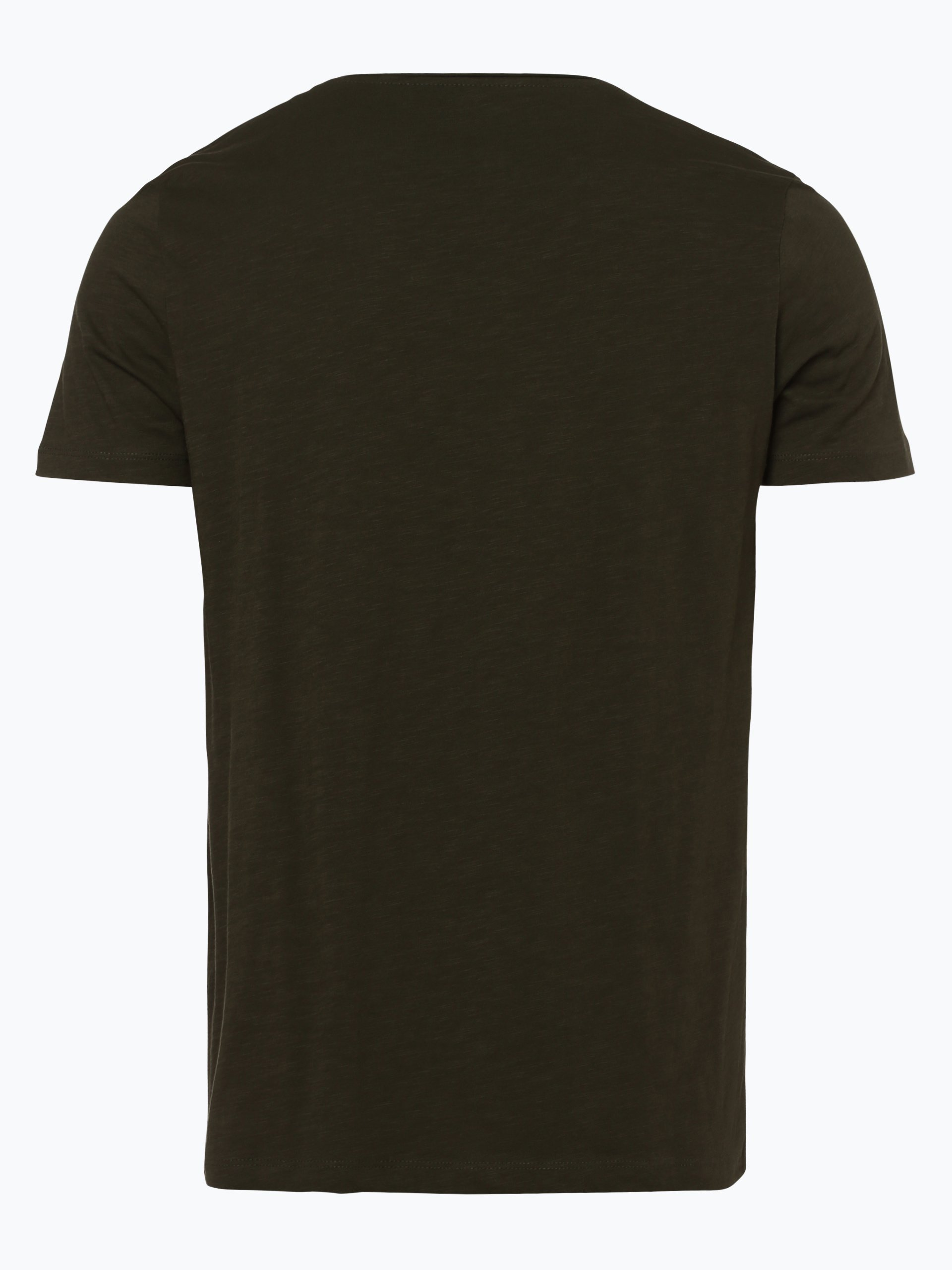 tom tailor denim herren t shirt oliv gemustert online. Black Bedroom Furniture Sets. Home Design Ideas