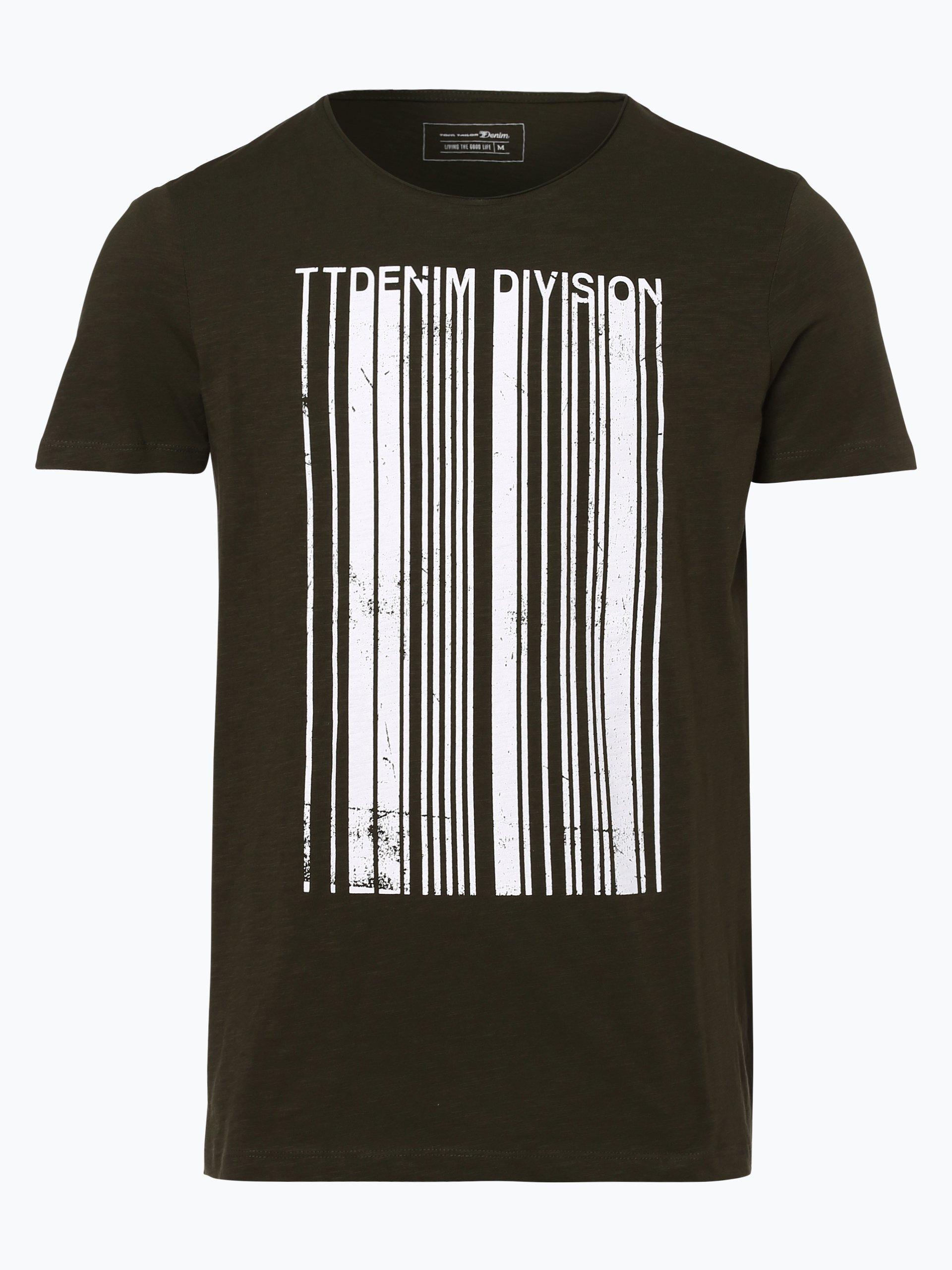 tom tailor denim herren t shirt oliv bedruckt online. Black Bedroom Furniture Sets. Home Design Ideas