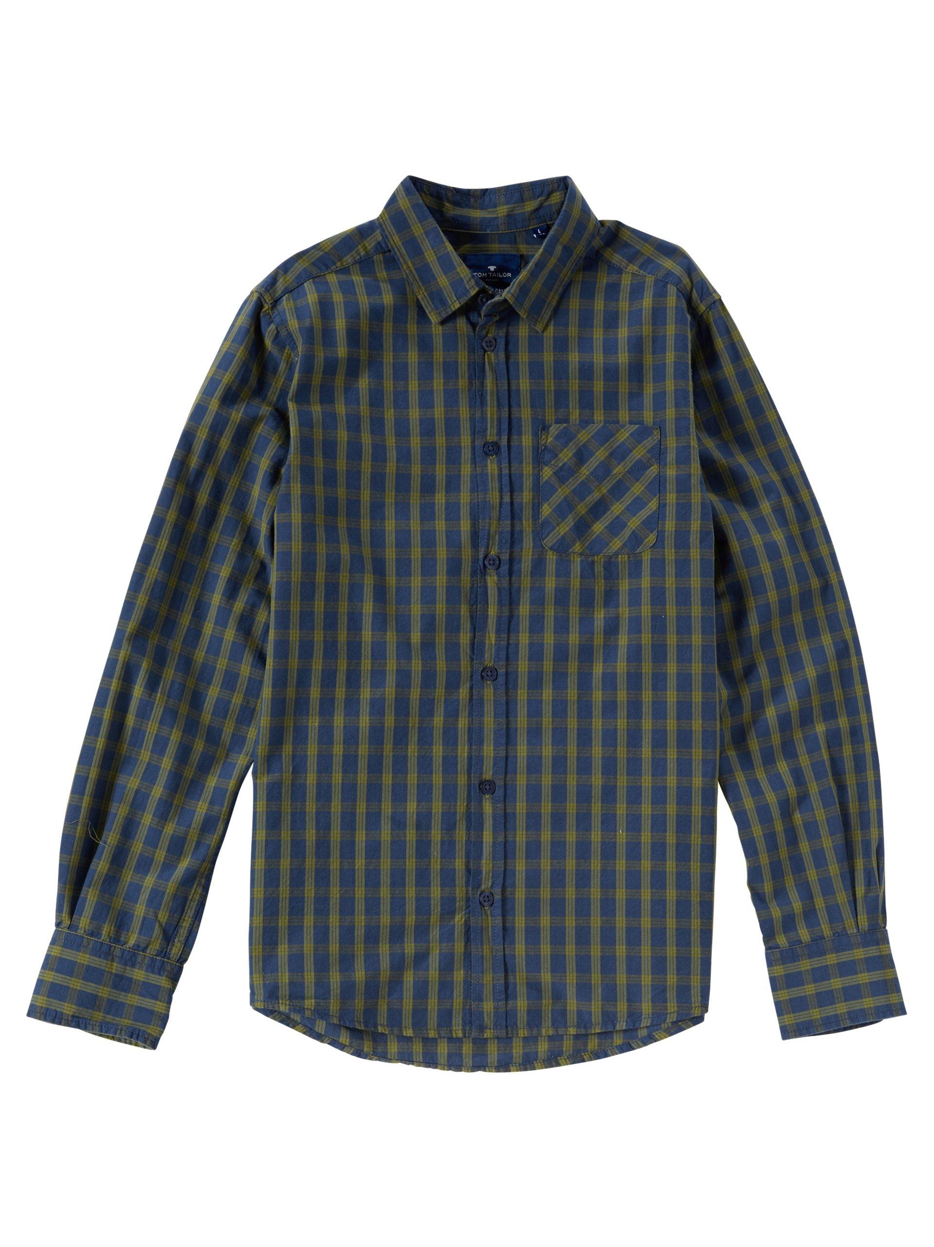tom tailor jungen hemd oliv uni online kaufen peek und. Black Bedroom Furniture Sets. Home Design Ideas
