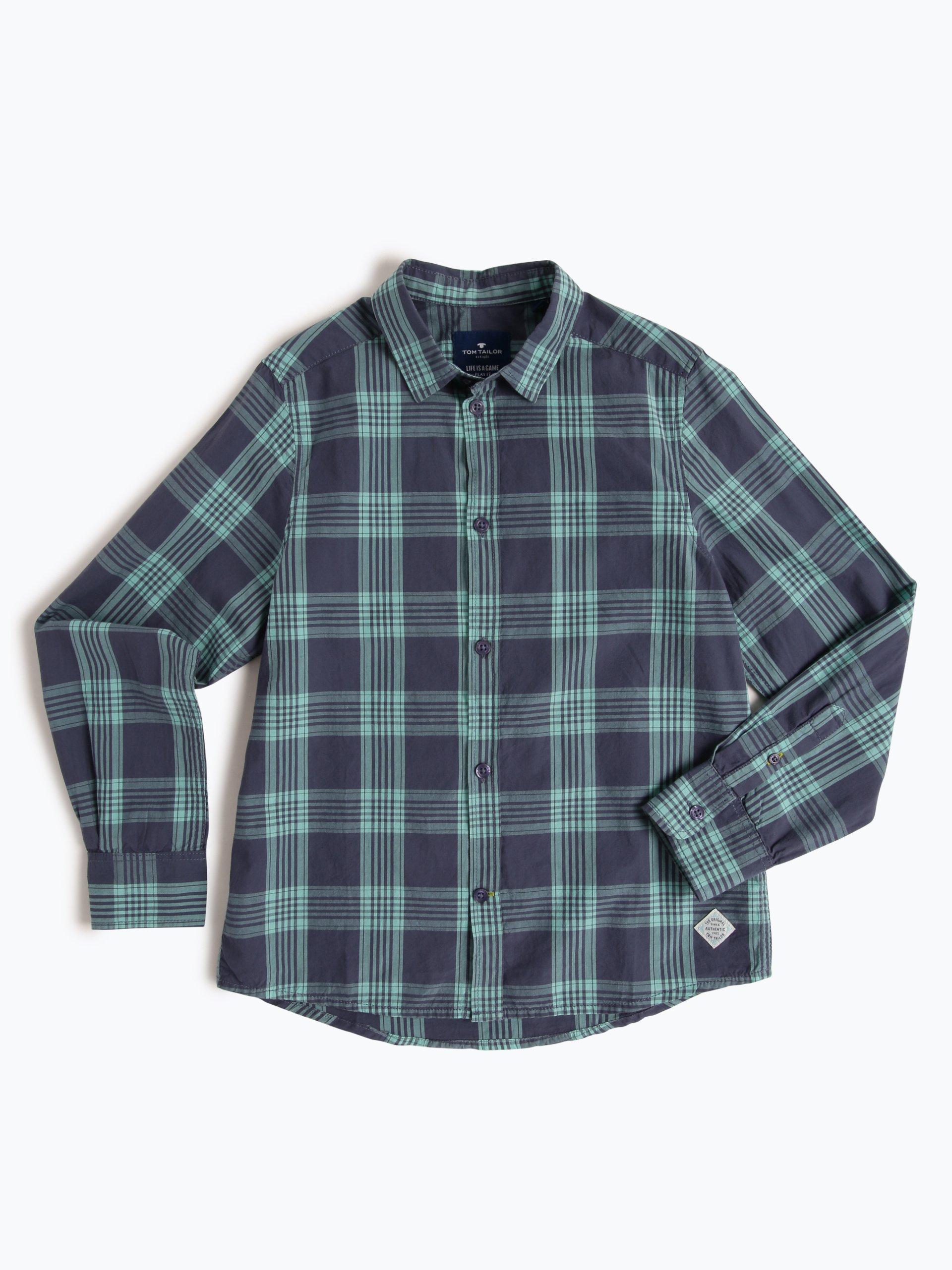 tom tailor jungen hemd indigo uni online kaufen peek und. Black Bedroom Furniture Sets. Home Design Ideas