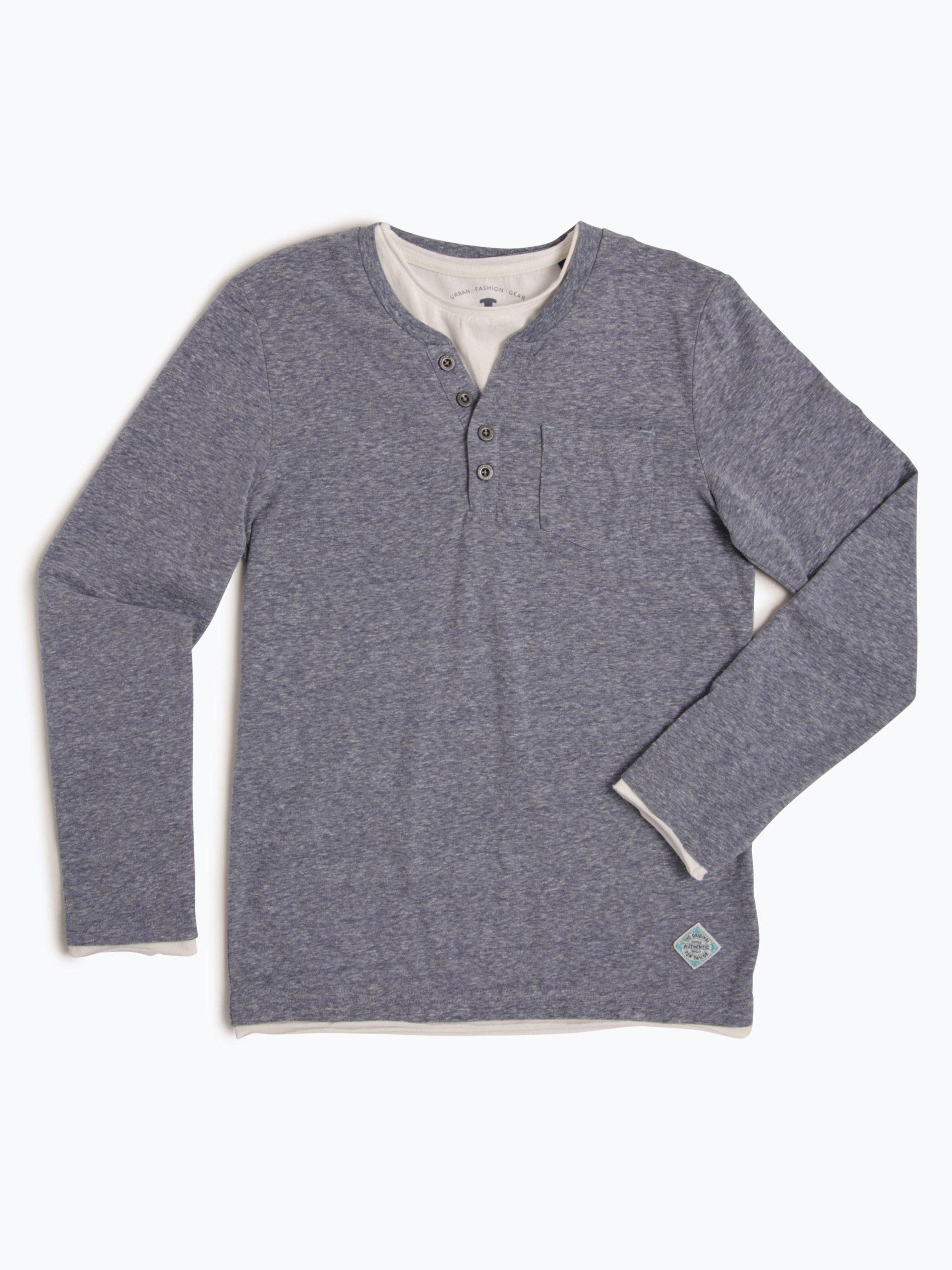 tom tailor jungen langarmshirt blau uni online kaufen. Black Bedroom Furniture Sets. Home Design Ideas
