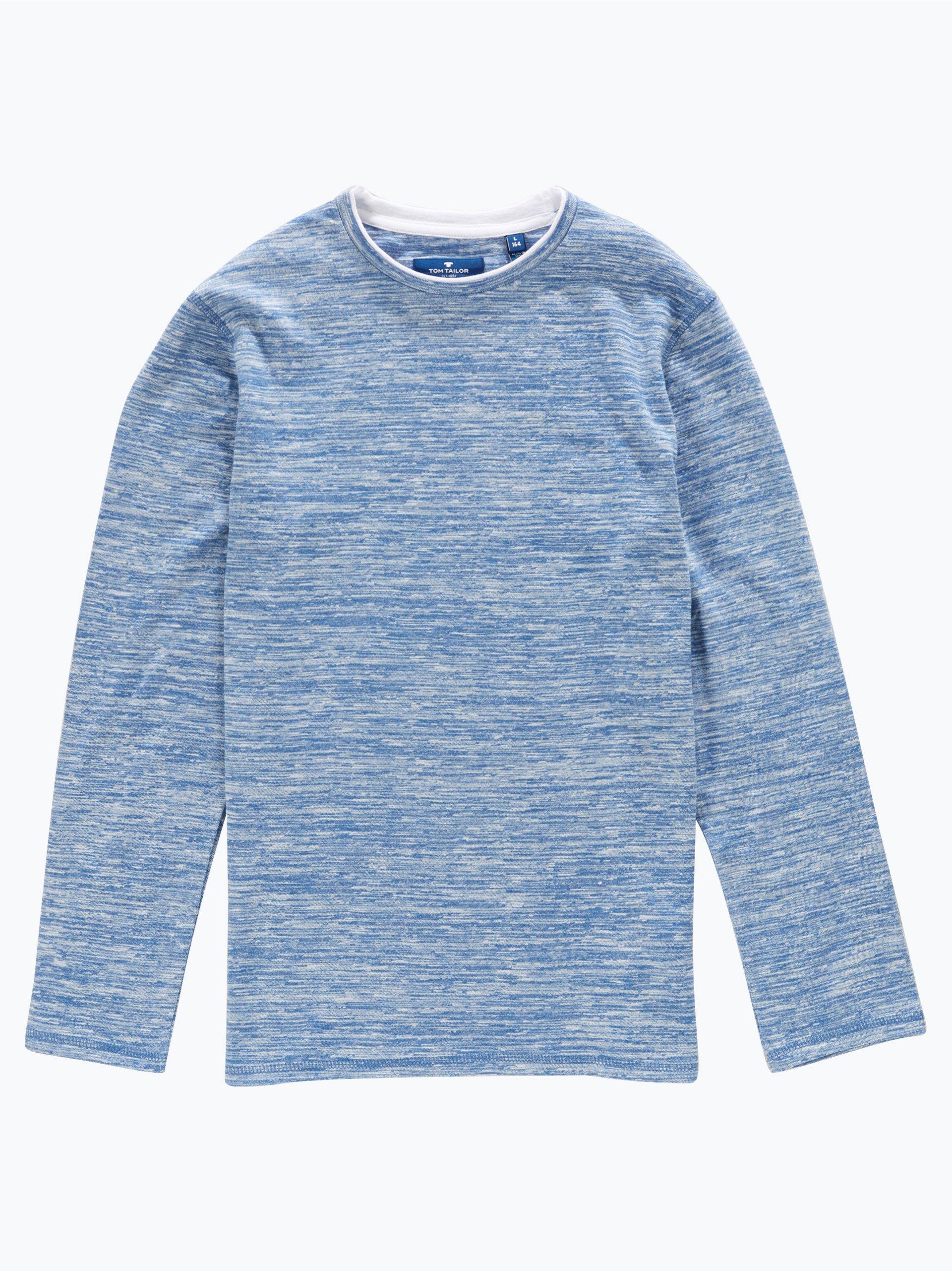 tom tailor jungen pullover blau uni online kaufen. Black Bedroom Furniture Sets. Home Design Ideas