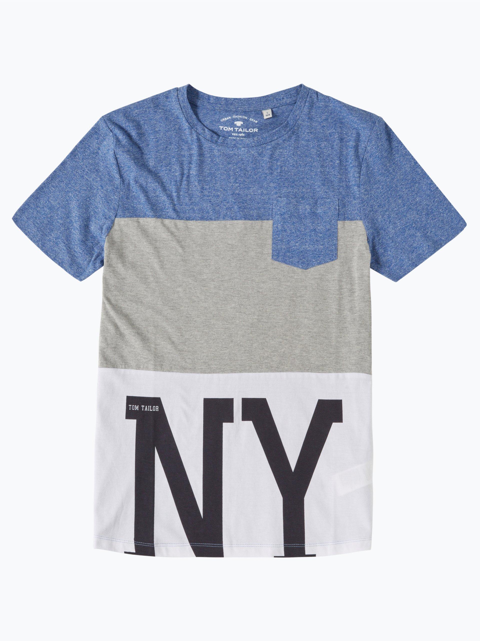 Tom tailor jungen t shirt blau uni online kaufen peek for Tailored t shirts online