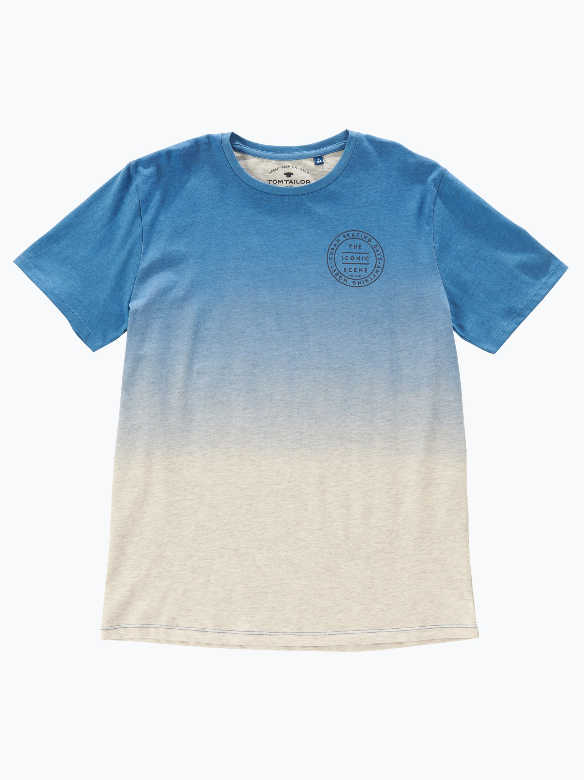 Tom tailor jungen t shirt blau uni online kaufen for Tailored t shirts online