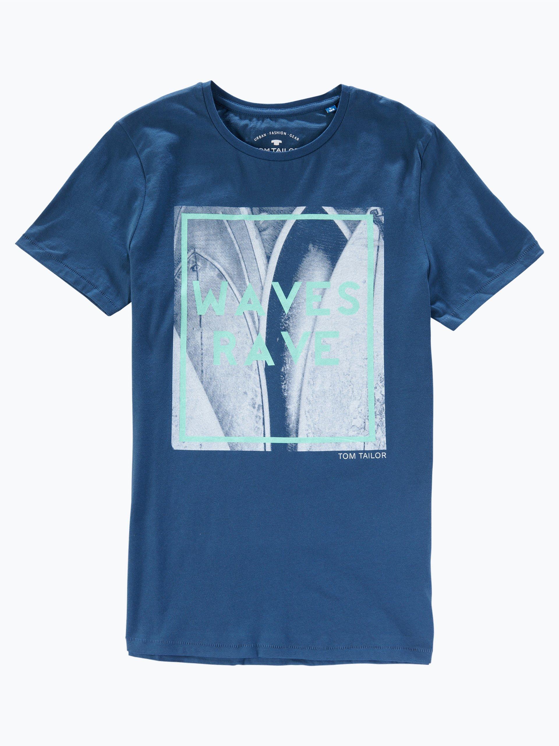 Tom tailor jungen t shirt blau marine uni online kaufen for Tailored t shirts online