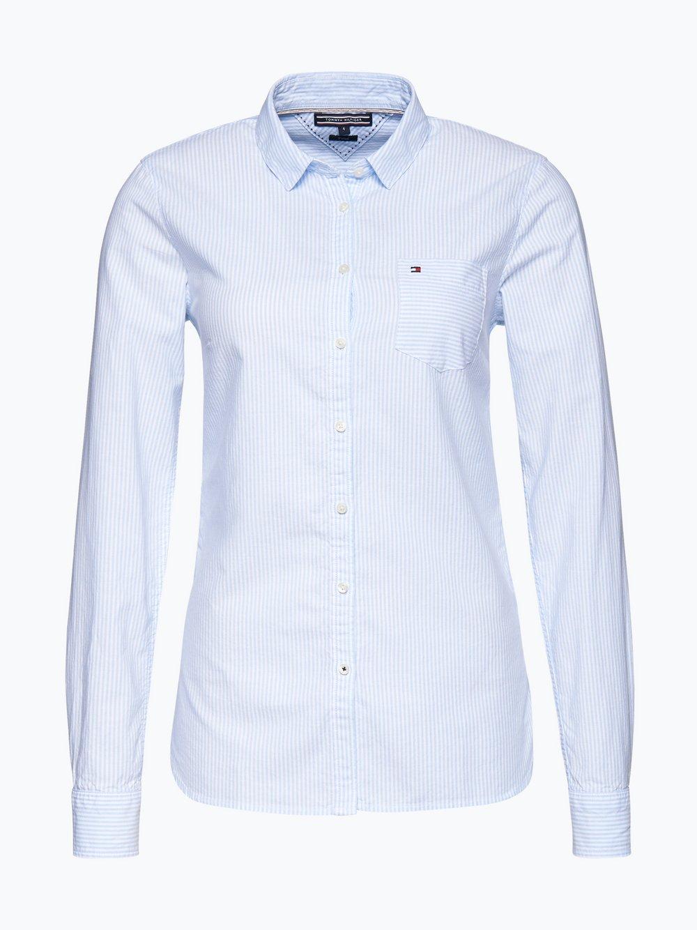 Bluse T Shirt mit Knöpfen Marine Streifen Tommy Hilfiger