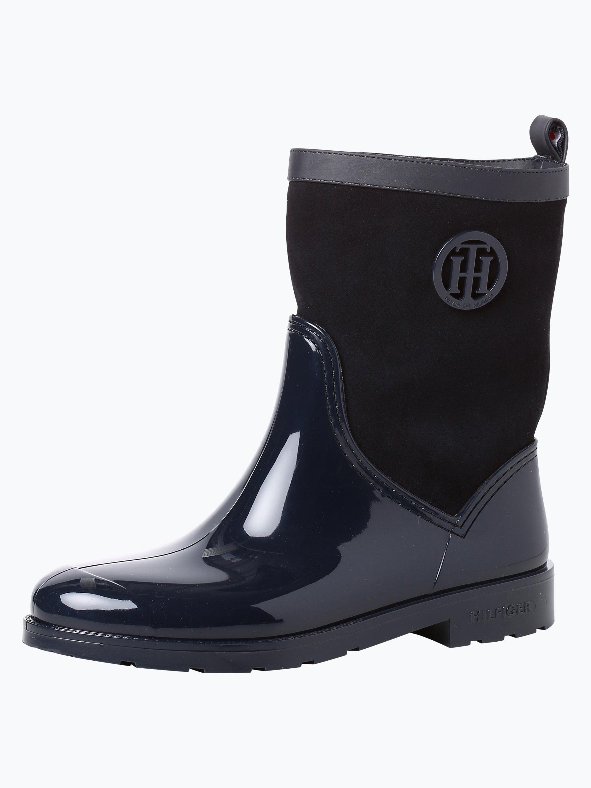 tommy hilfiger damen boots mit leder anteil oxford. Black Bedroom Furniture Sets. Home Design Ideas