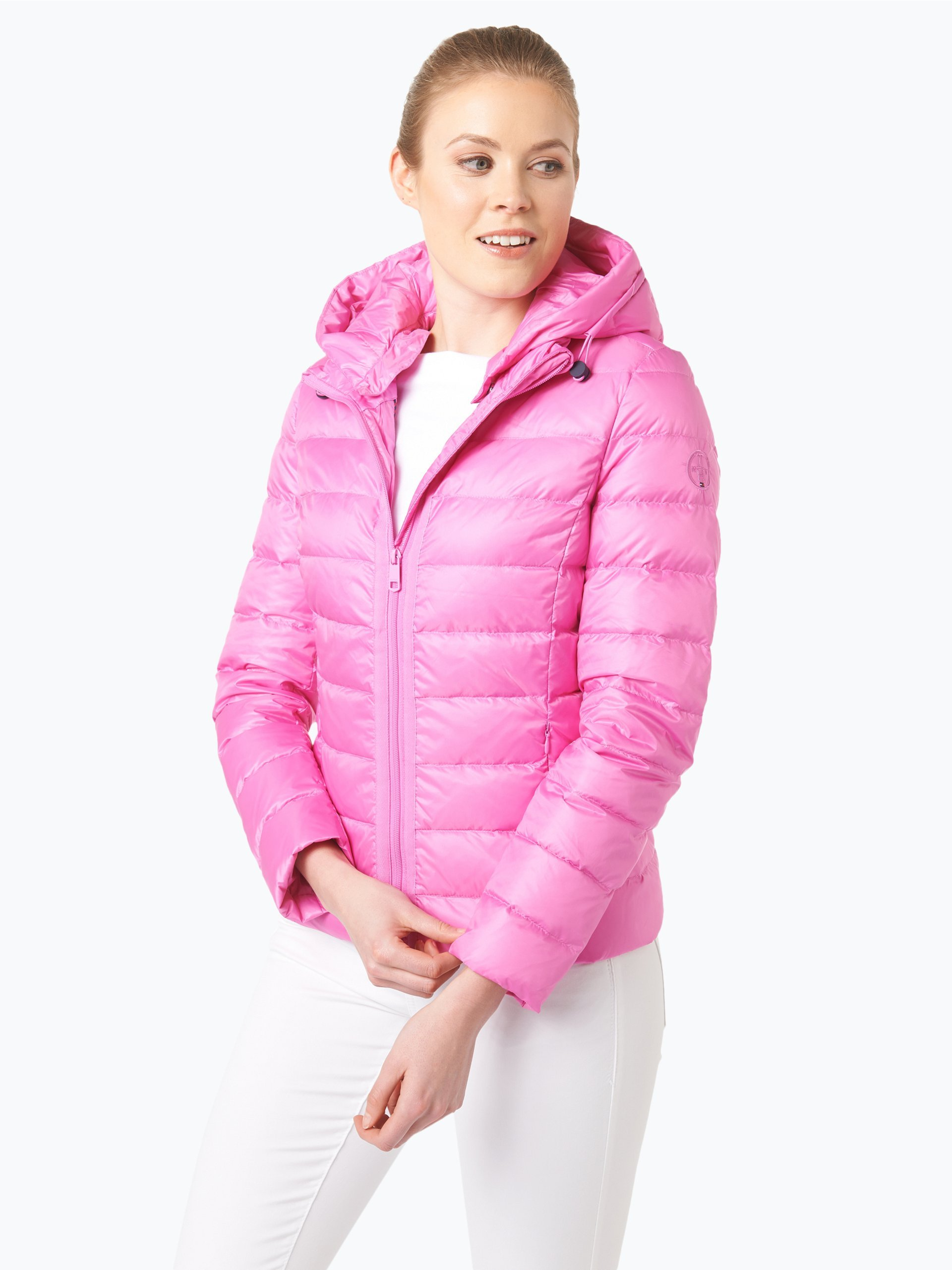 tommy hilfiger damen daunenjacke pink uni online kaufen. Black Bedroom Furniture Sets. Home Design Ideas