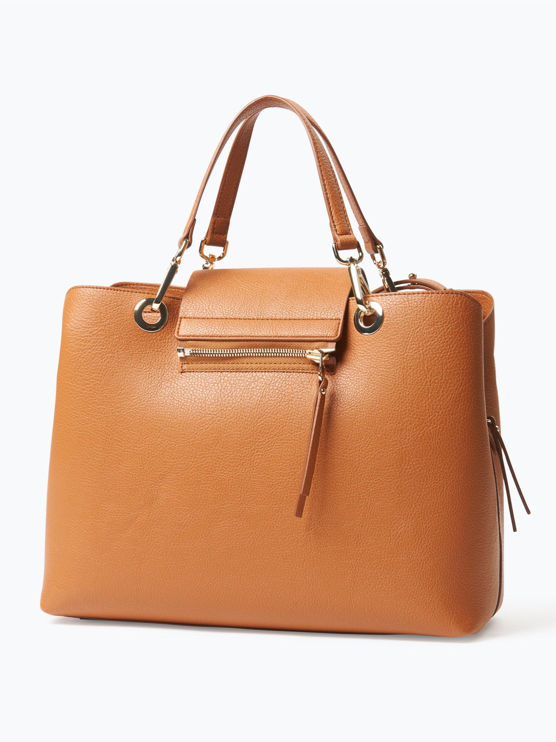 tommy hilfiger damen handtasche in leder optik cognac uni. Black Bedroom Furniture Sets. Home Design Ideas