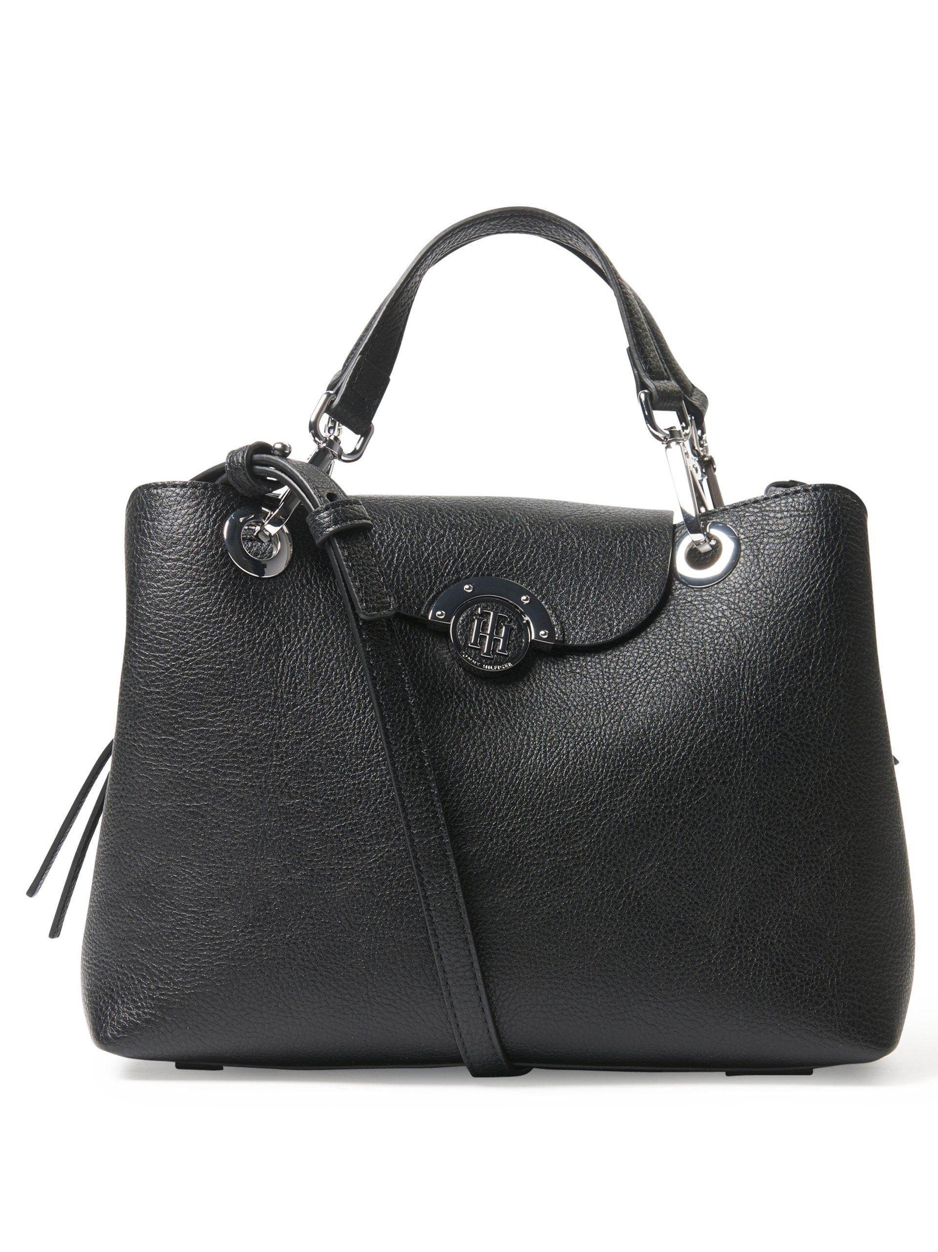 tommy hilfiger damen handtasche in leder optik schwarz uni. Black Bedroom Furniture Sets. Home Design Ideas