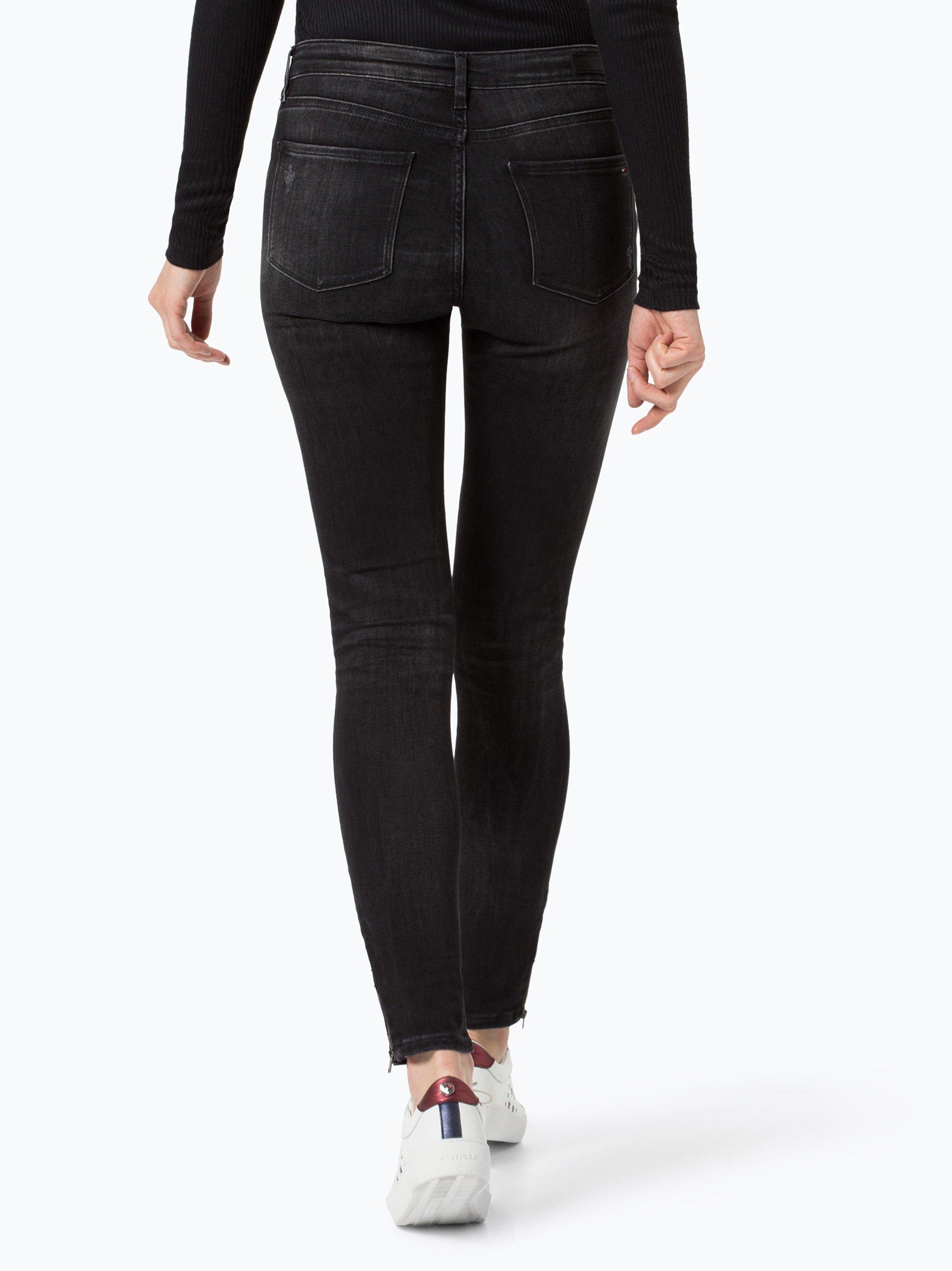 tommy hilfiger damen jeans como schwarz uni online. Black Bedroom Furniture Sets. Home Design Ideas
