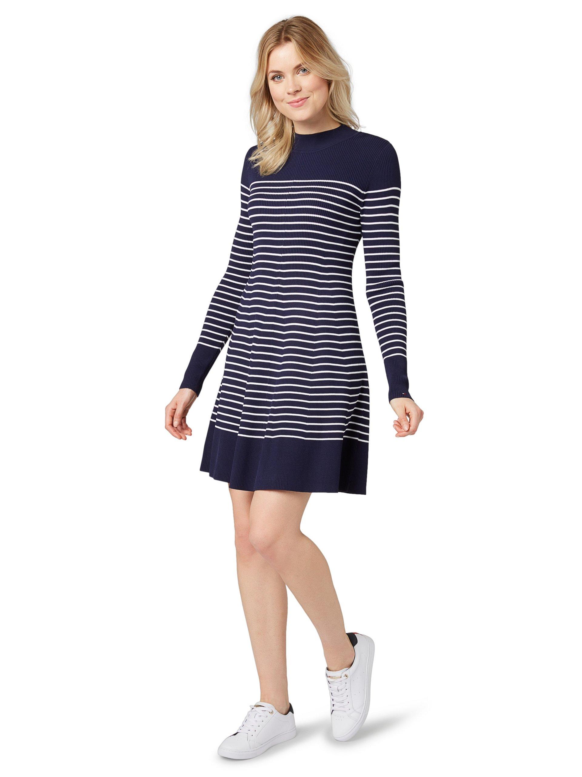 tommy hilfiger damen kleid wei gestreift online kaufen vangraaf com. Black Bedroom Furniture Sets. Home Design Ideas