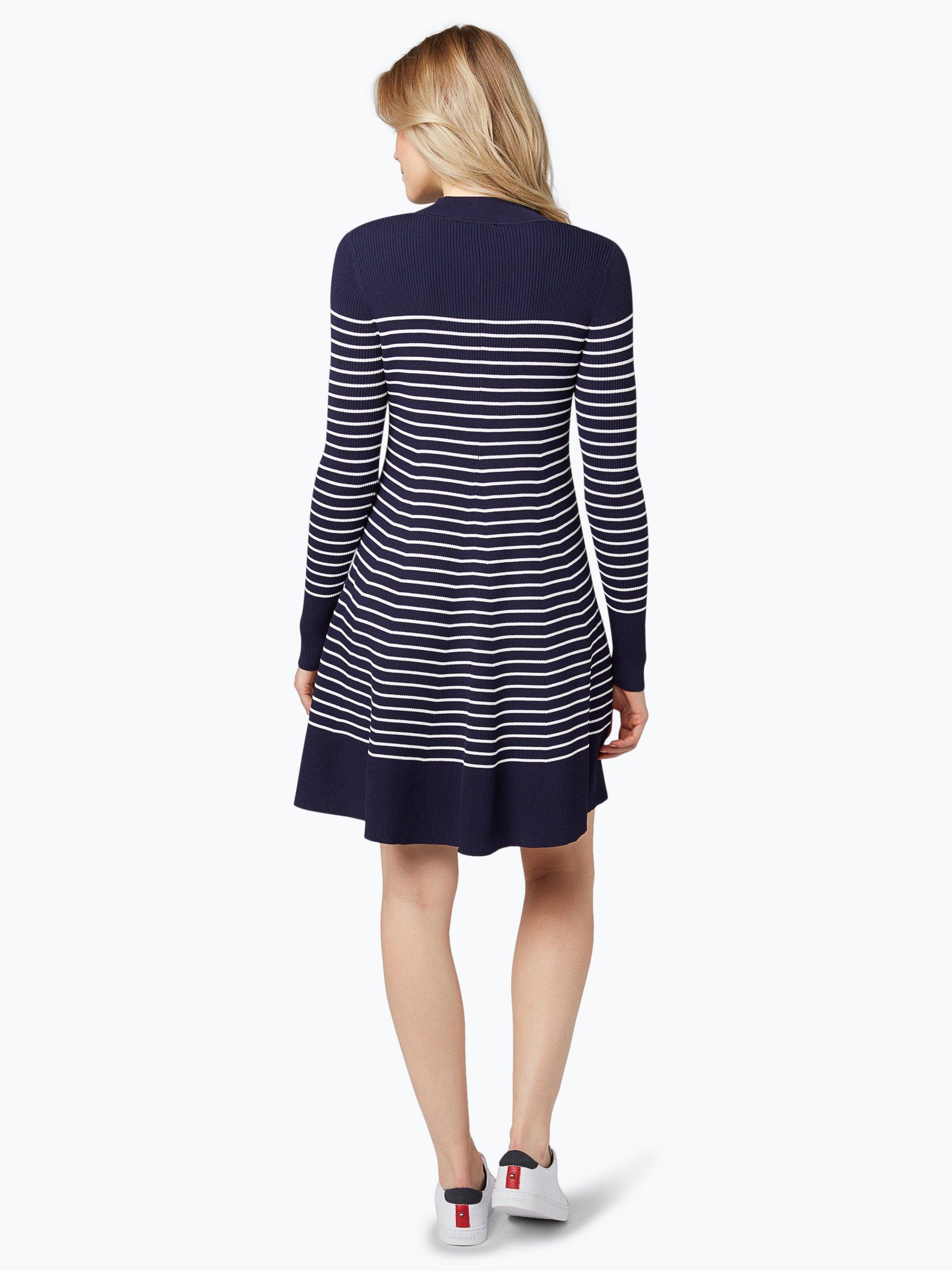 tommy hilfiger damen kleid wei gestreift online kaufen. Black Bedroom Furniture Sets. Home Design Ideas