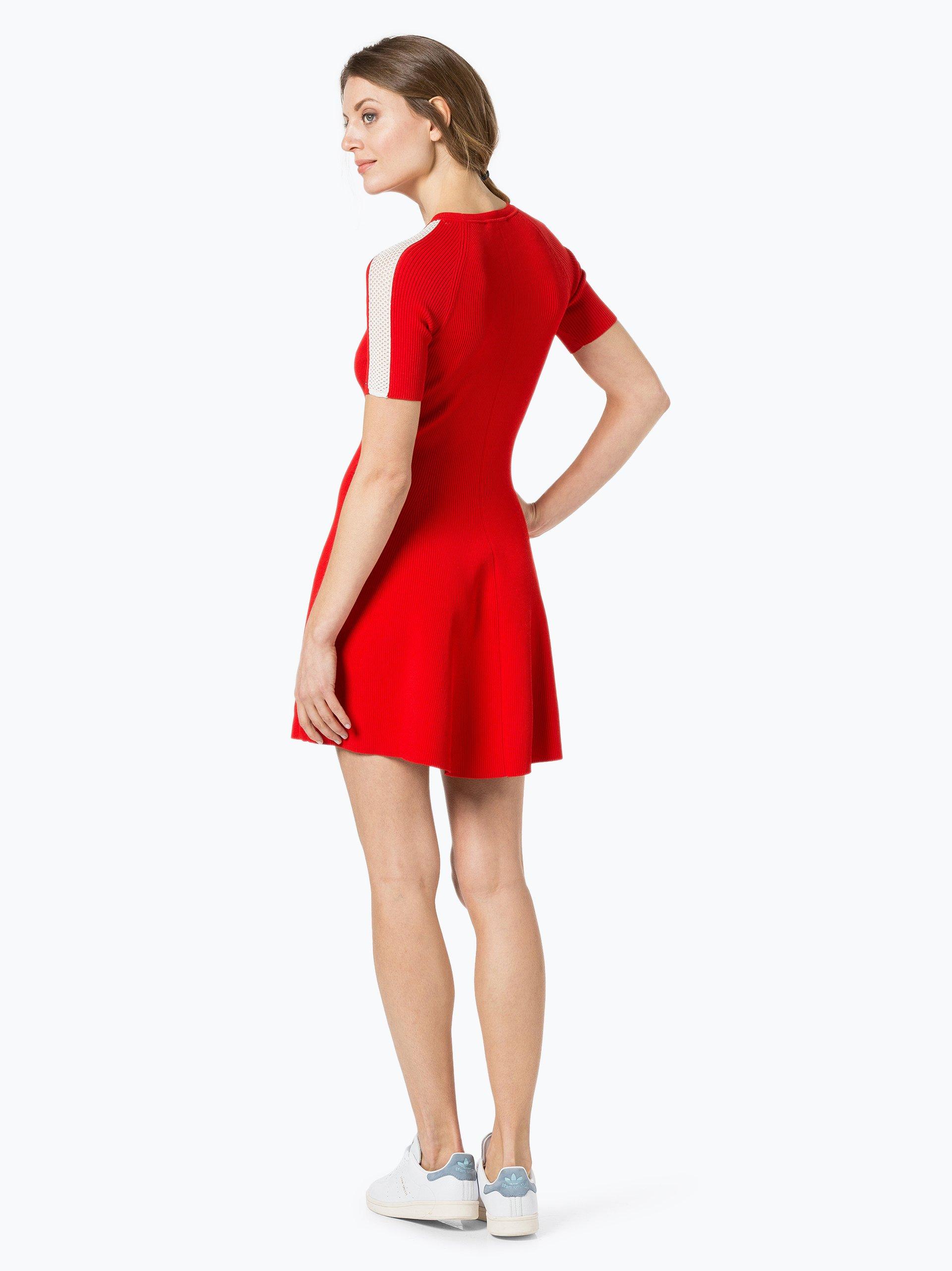 tommy hilfiger damen kleid rot uni online kaufen peek. Black Bedroom Furniture Sets. Home Design Ideas