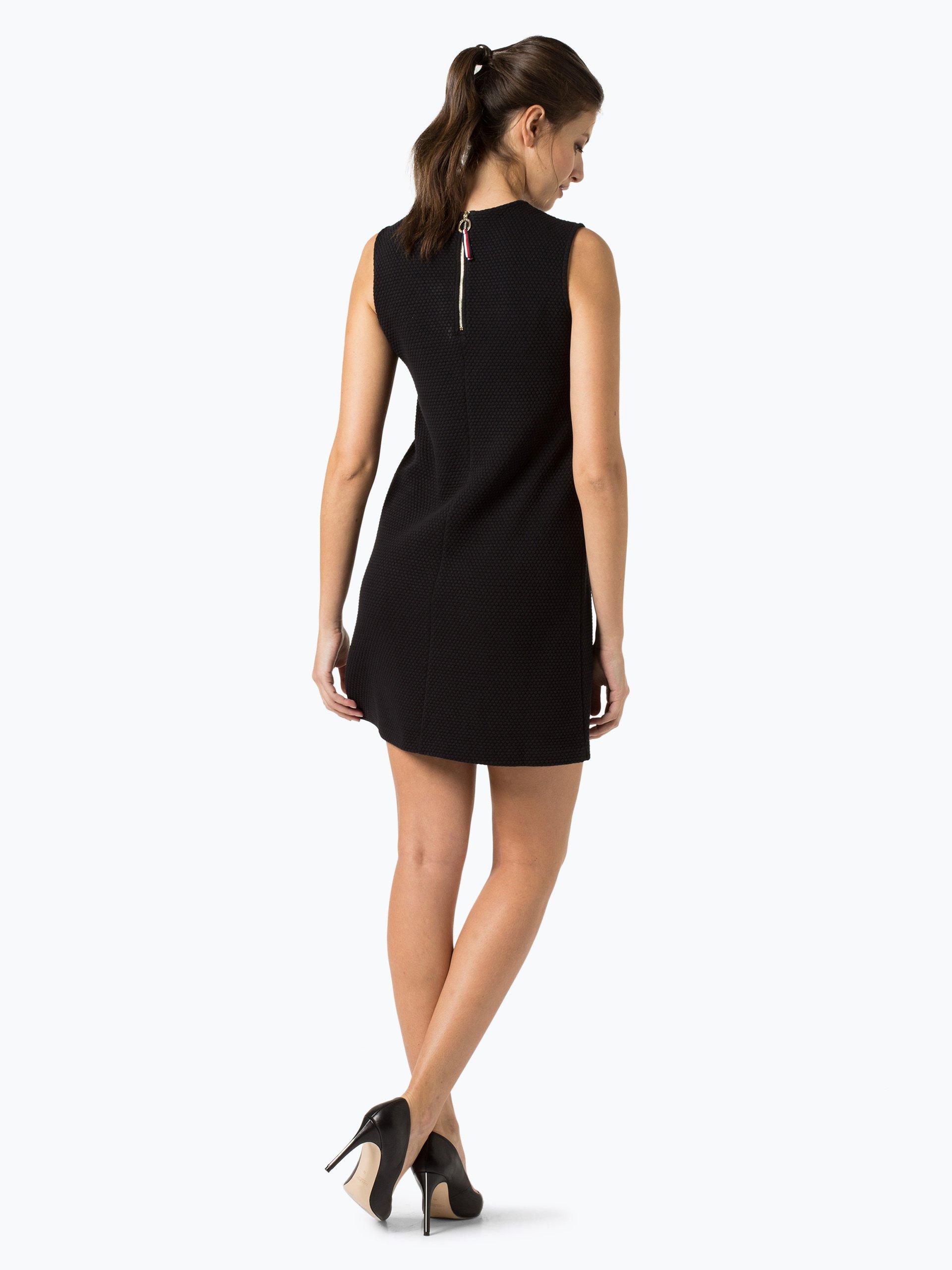 tommy hilfiger damen kleid schwarz uni online kaufen. Black Bedroom Furniture Sets. Home Design Ideas