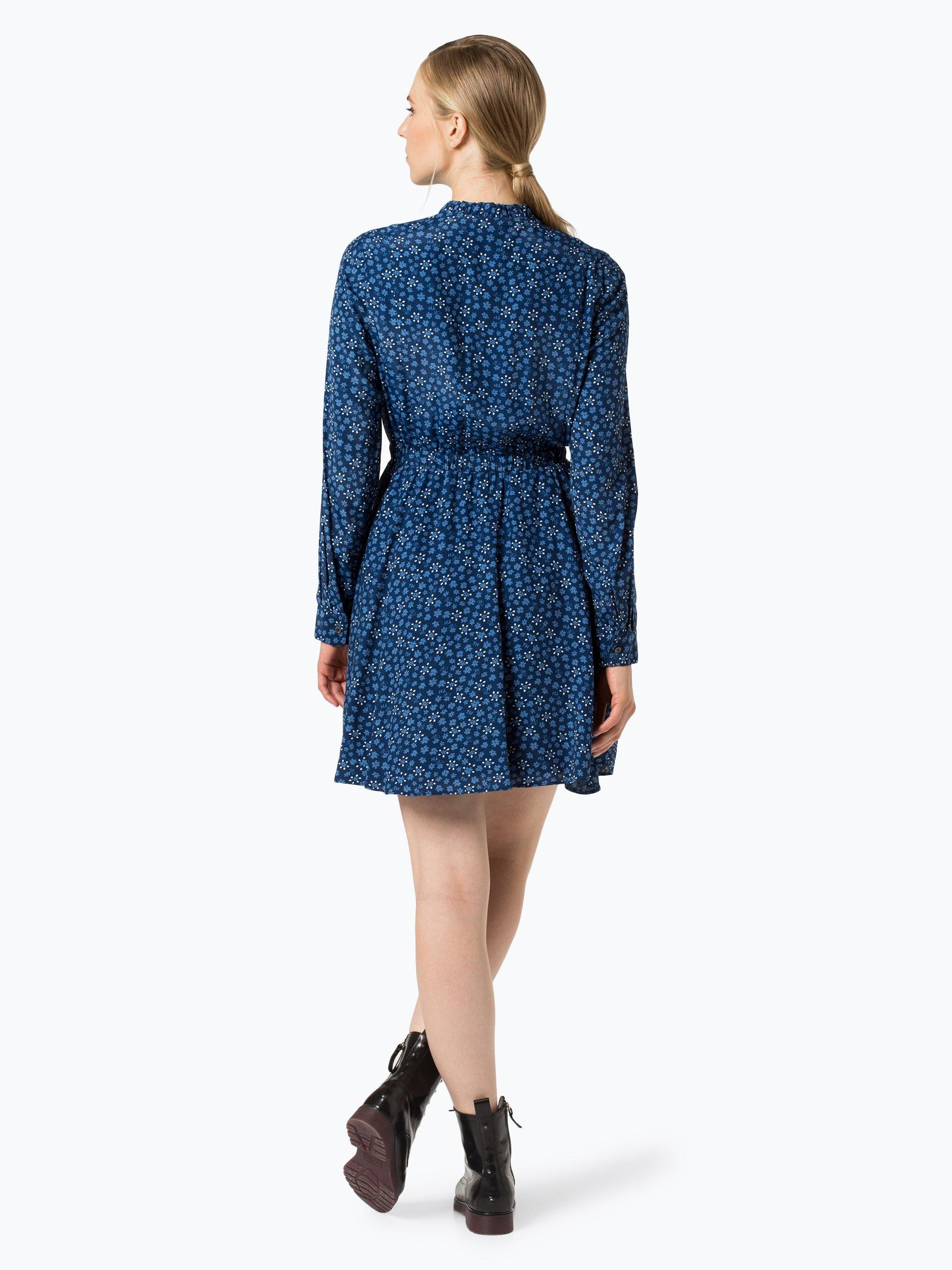 tommy hilfiger damen kleid royal blau gemustert online. Black Bedroom Furniture Sets. Home Design Ideas