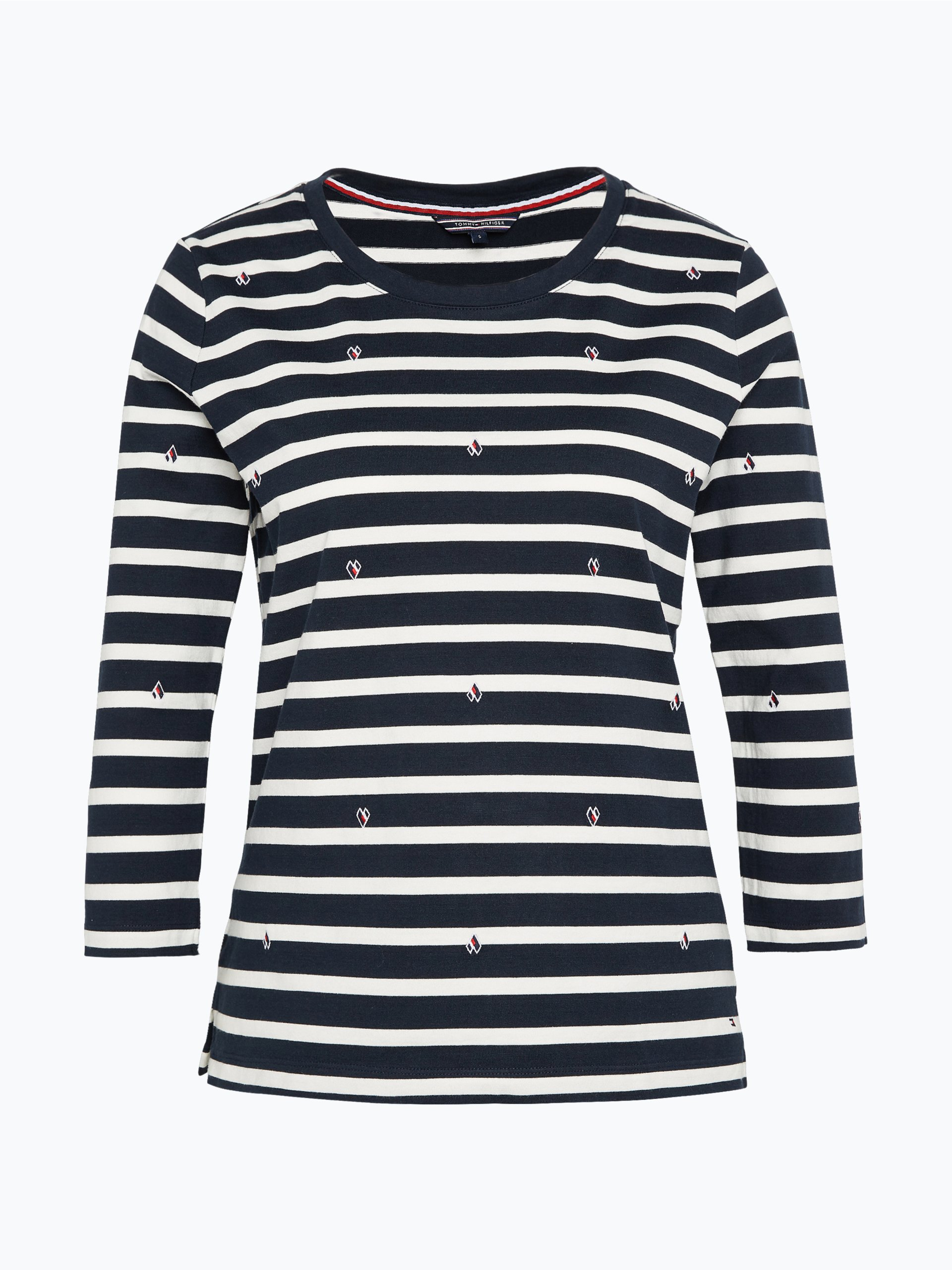 tommy hilfiger damen langarmshirt myra marine gestreift online kaufen vangraaf com. Black Bedroom Furniture Sets. Home Design Ideas