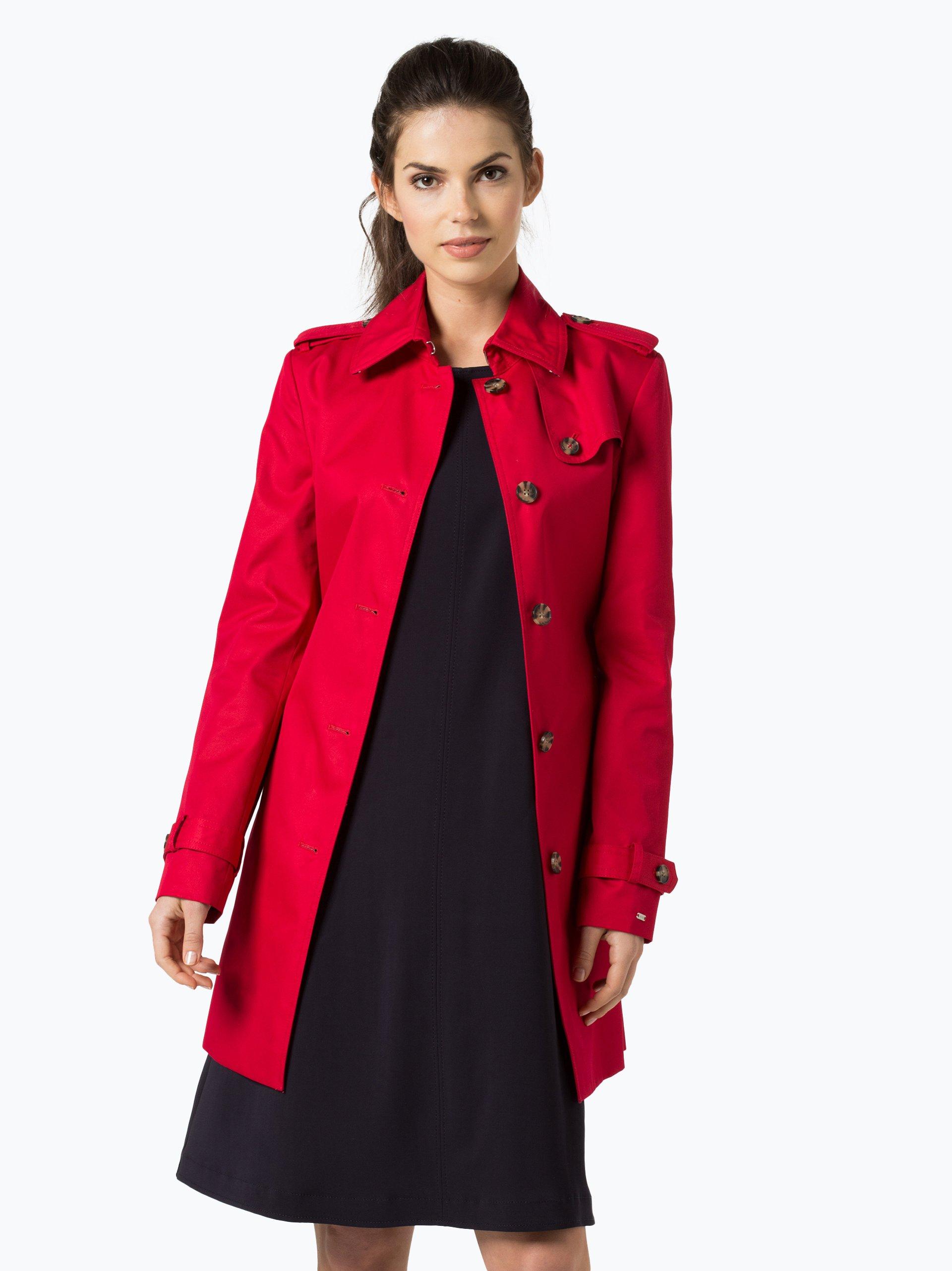 Tommy Hilfiger Damen Mantel mit Leder-Anteil