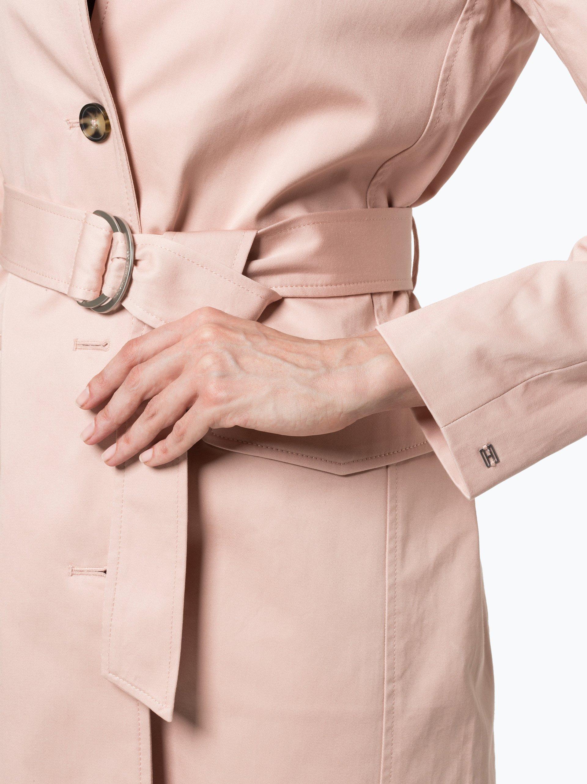 tommy hilfiger damen mantel rosa uni online kaufen. Black Bedroom Furniture Sets. Home Design Ideas