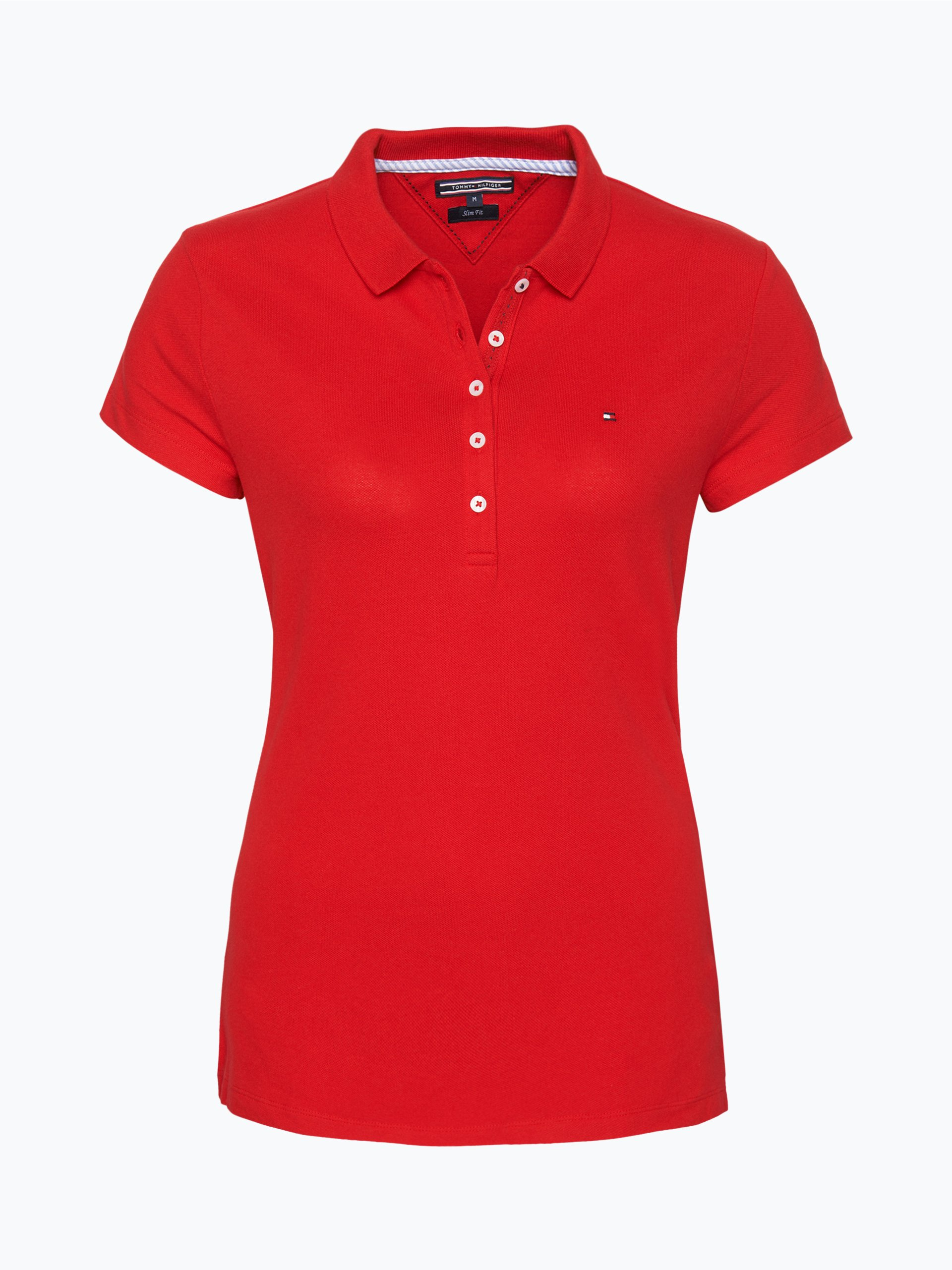 tommy hilfiger damen poloshirt new chiara rot uni online kaufen peek und cloppenburg de. Black Bedroom Furniture Sets. Home Design Ideas