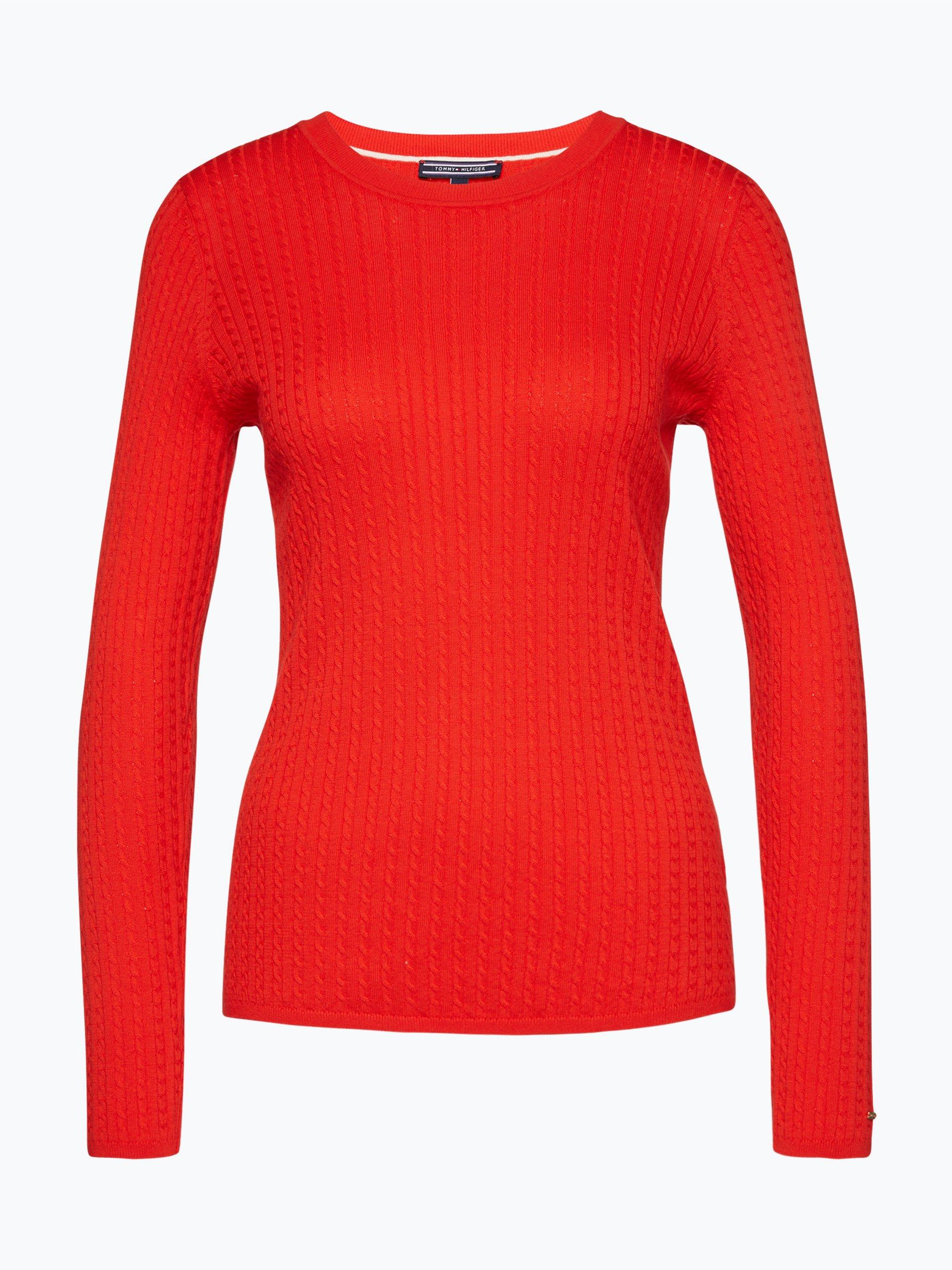 tommy hilfiger damen pullover erca rot uni online kaufen. Black Bedroom Furniture Sets. Home Design Ideas
