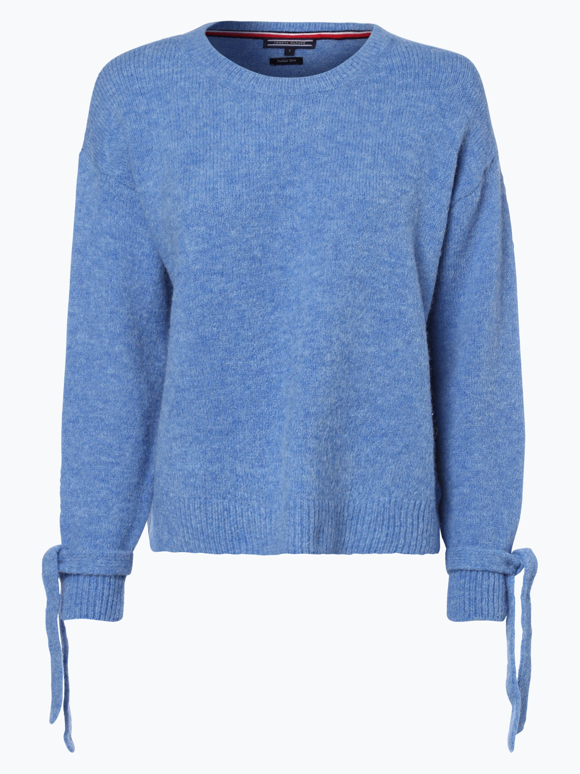 tommy hilfiger damen pullover mit alpaka anteil blau uni online kaufen vangraaf com. Black Bedroom Furniture Sets. Home Design Ideas