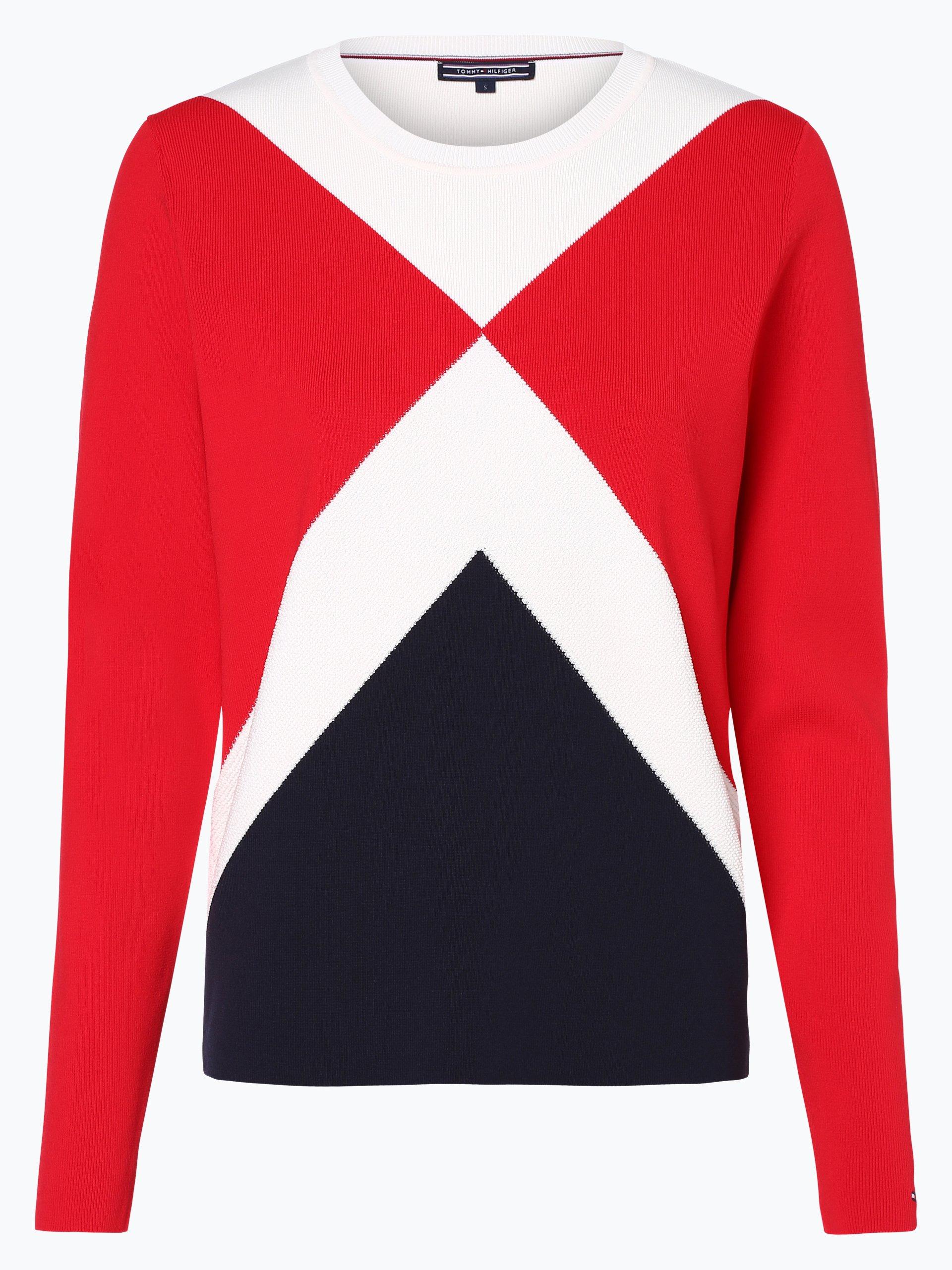 tommy hilfiger damen pullover rot gestreift online kaufen. Black Bedroom Furniture Sets. Home Design Ideas