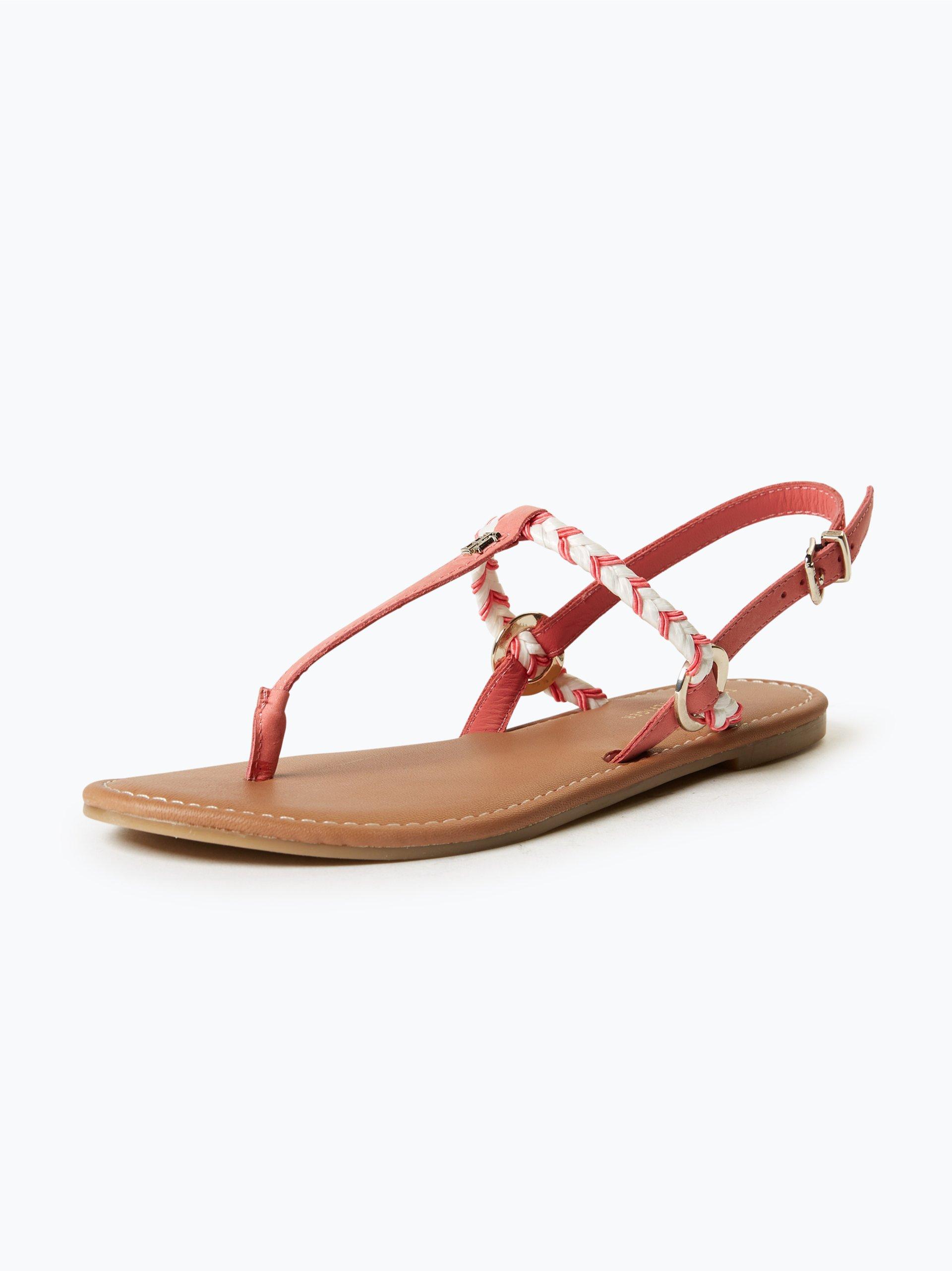 tommy hilfiger damen sandalen aus leder 2 online kaufen peek und cloppenburg de. Black Bedroom Furniture Sets. Home Design Ideas