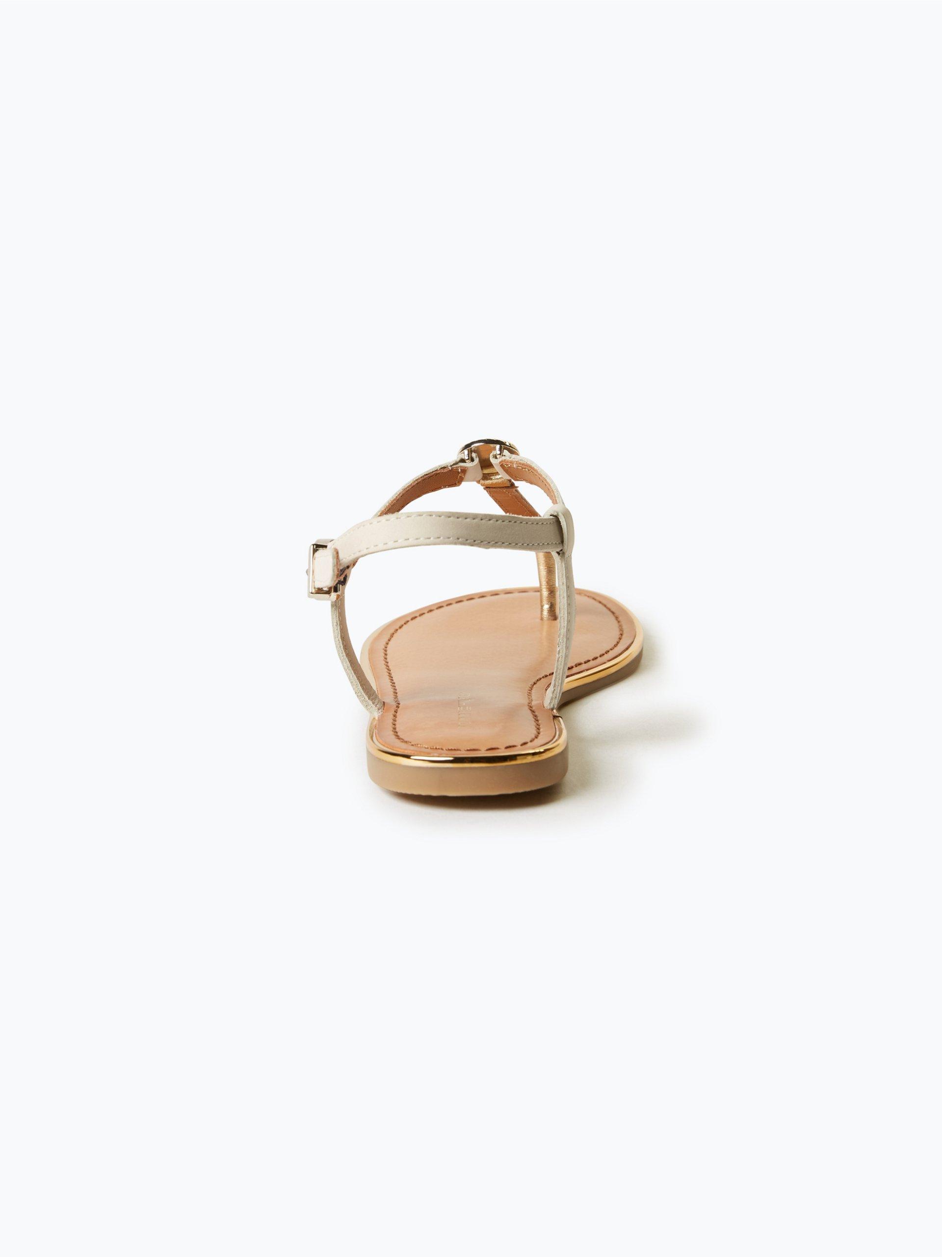 tommy hilfiger damen sandaletten aus leder online kaufen. Black Bedroom Furniture Sets. Home Design Ideas