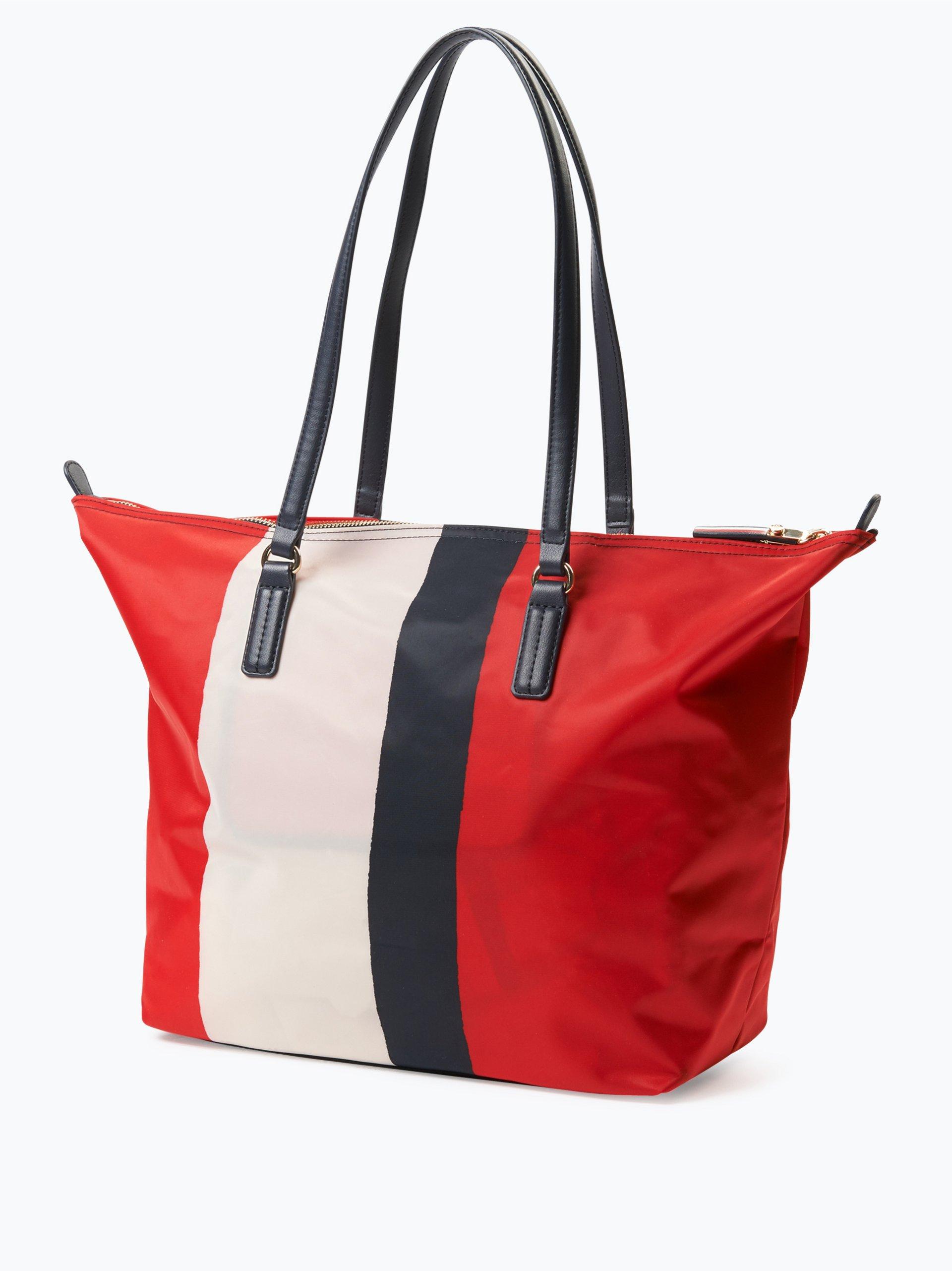 tommy hilfiger damen shopper rot gestreift online kaufen. Black Bedroom Furniture Sets. Home Design Ideas