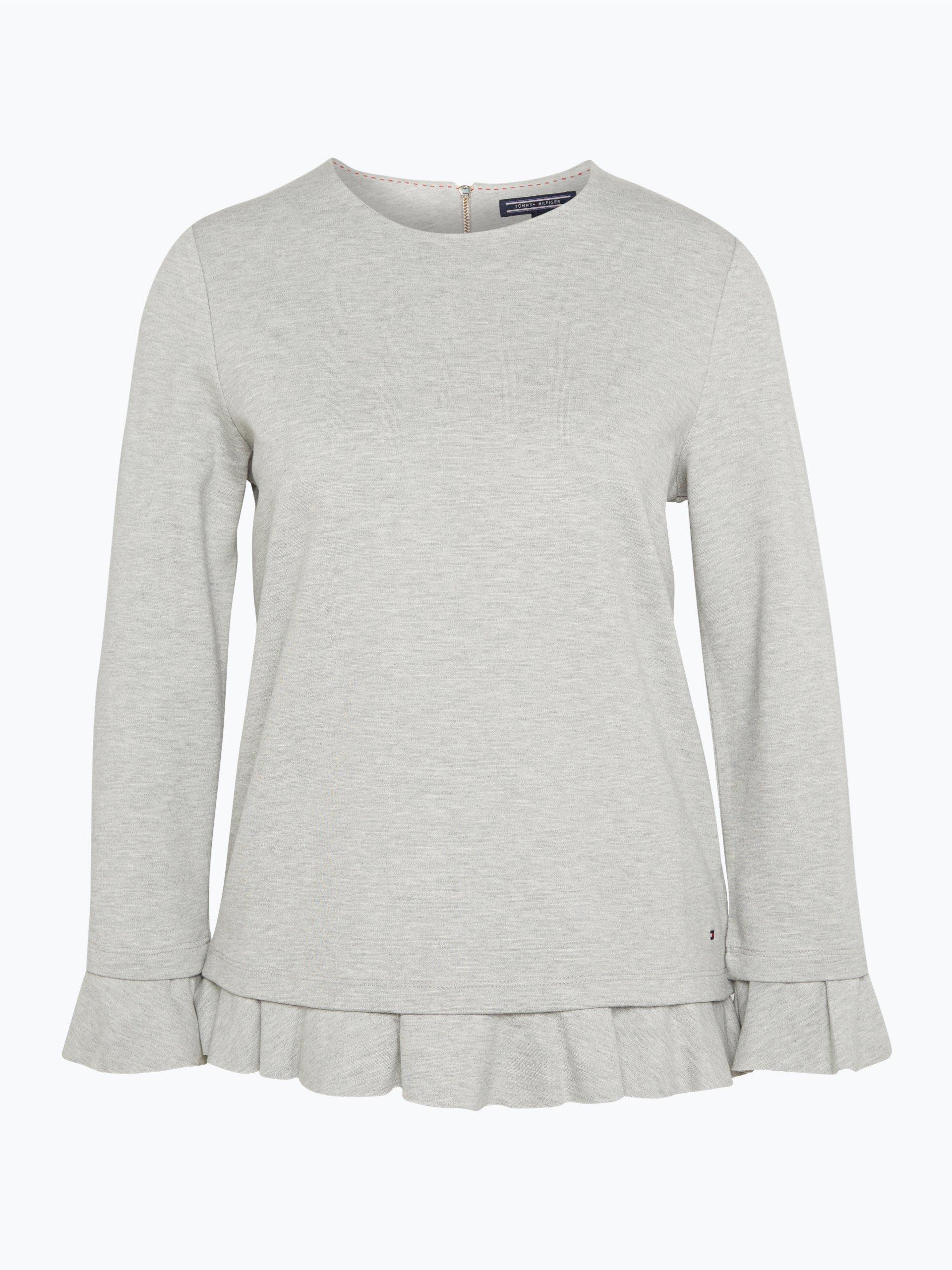 tommy hilfiger damen sweatshirt majorie silber uni. Black Bedroom Furniture Sets. Home Design Ideas