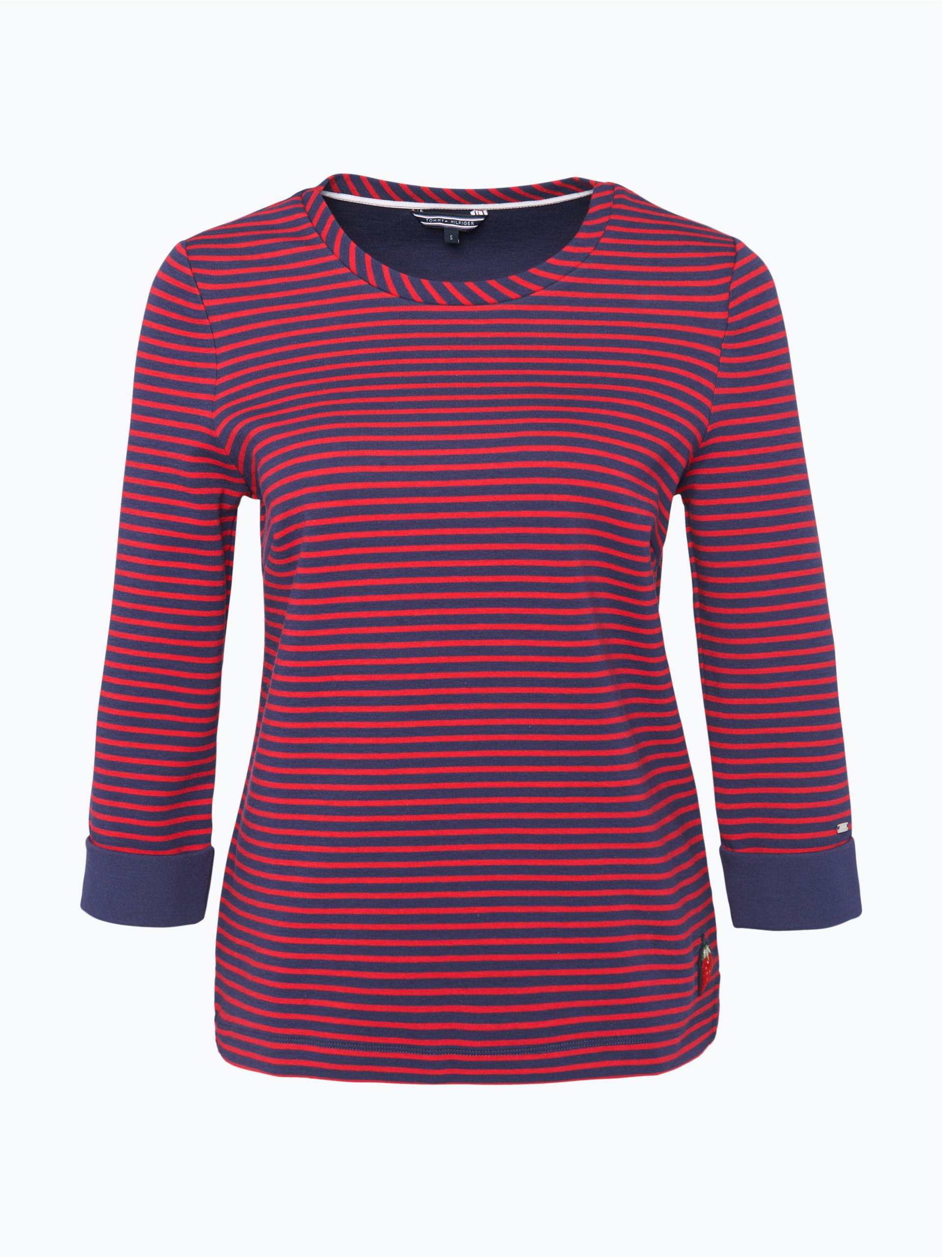 tommy hilfiger damen sweatshirt sylvie marine gestreift. Black Bedroom Furniture Sets. Home Design Ideas