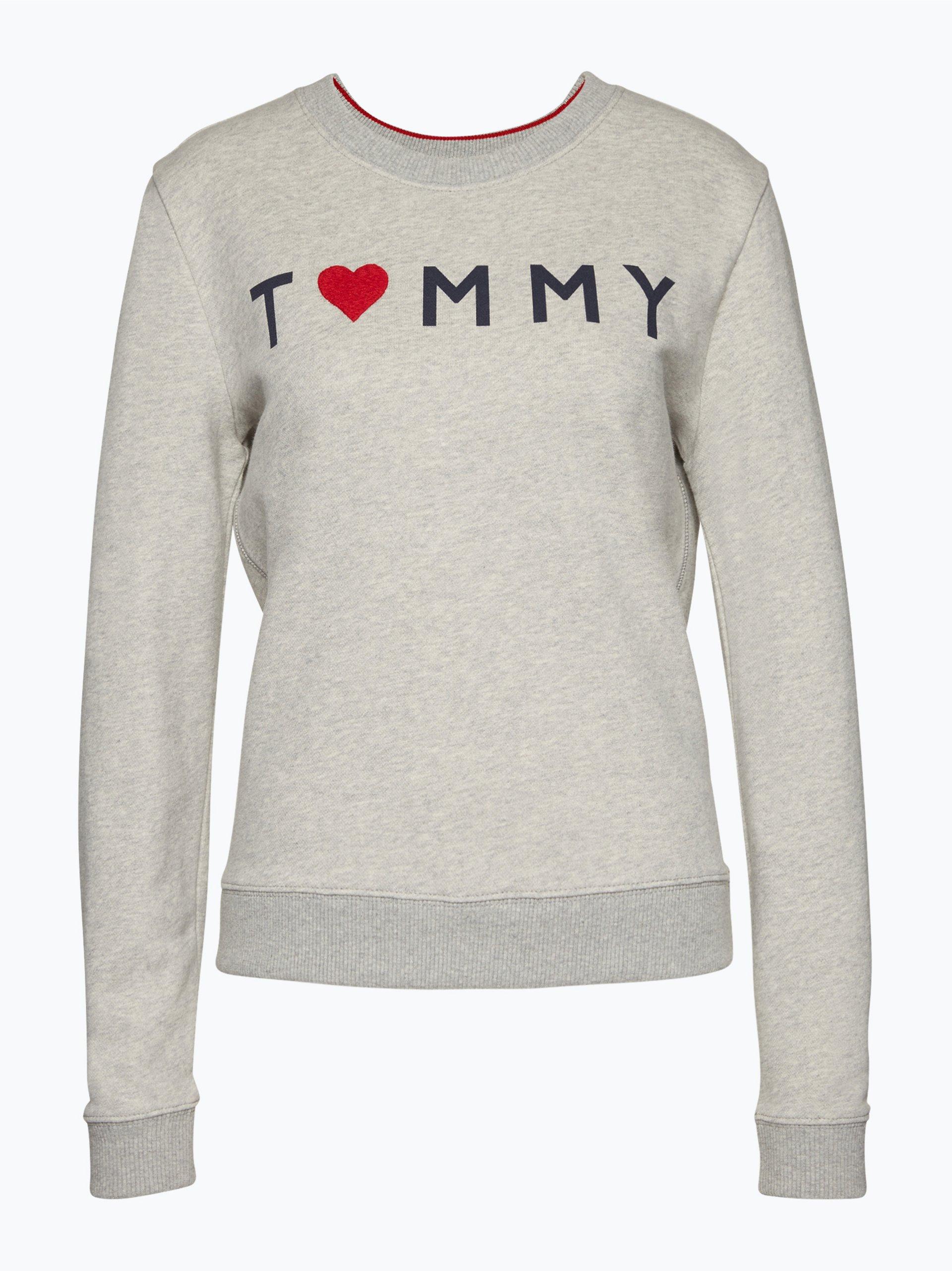 tommy hilfiger damen sweatshirt grau gemustert online. Black Bedroom Furniture Sets. Home Design Ideas