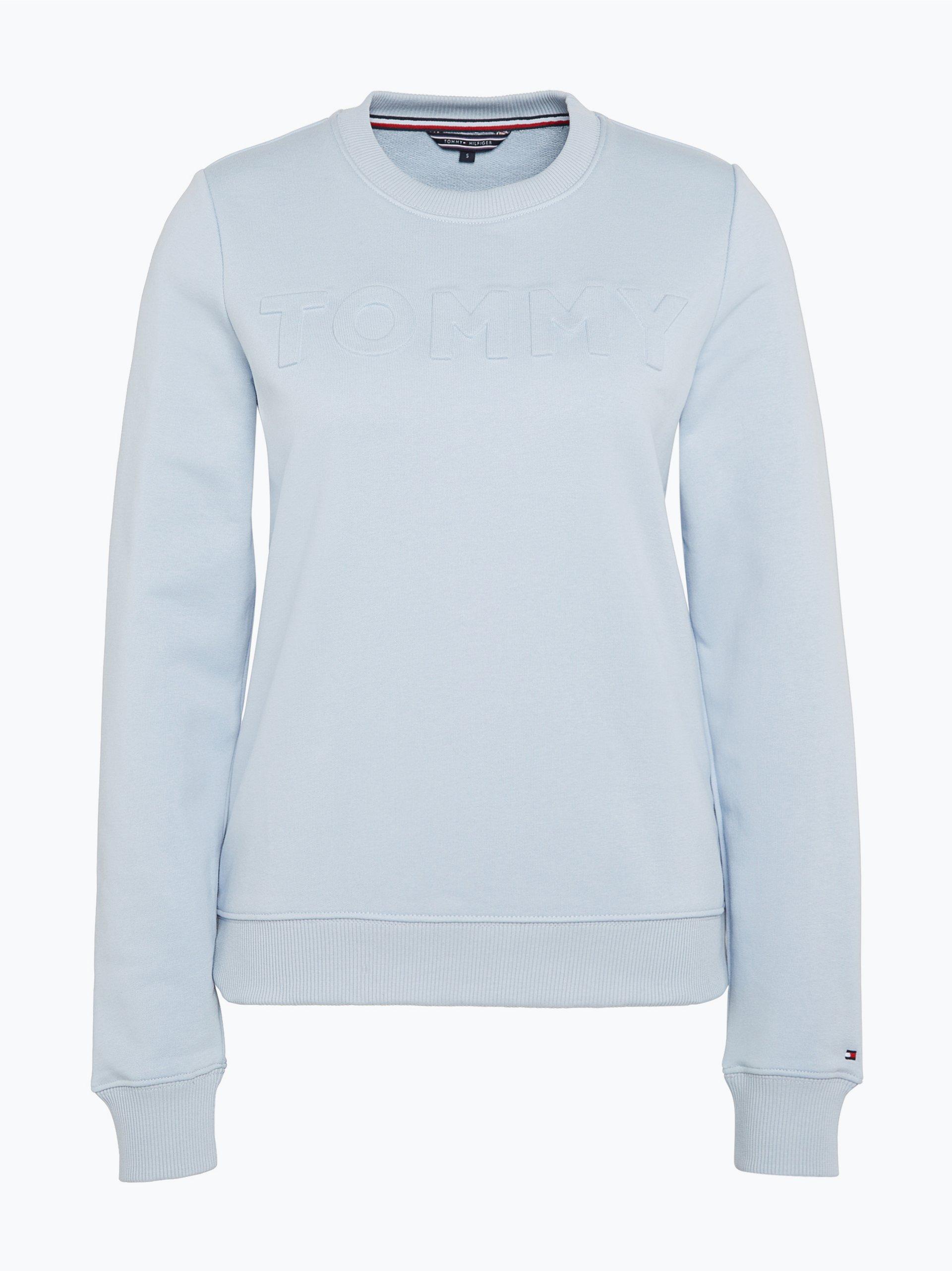 tommy hilfiger damen sweatshirt hellblau gemustert online. Black Bedroom Furniture Sets. Home Design Ideas