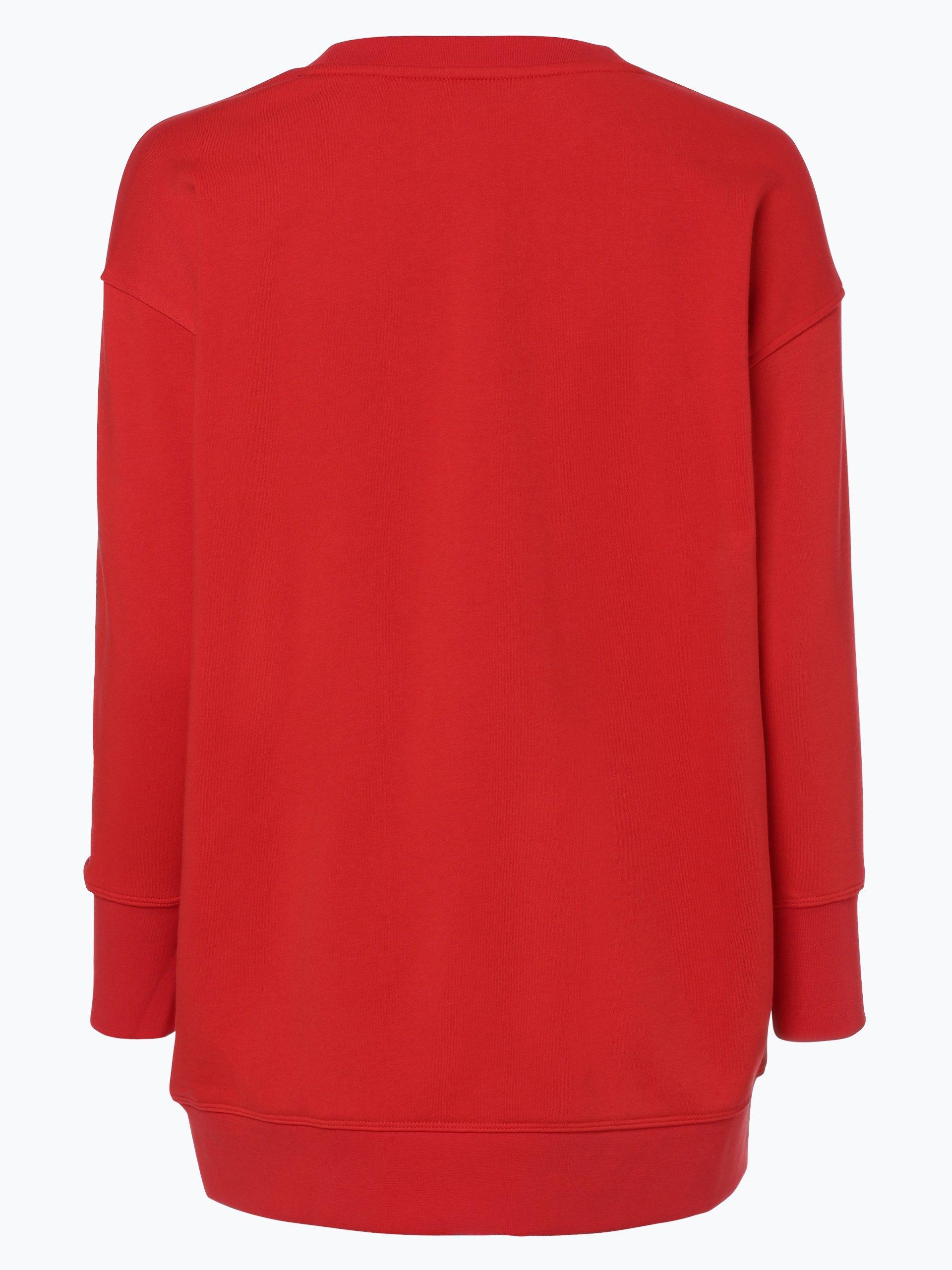 tommy hilfiger damen sweatshirt rot uni online kaufen. Black Bedroom Furniture Sets. Home Design Ideas