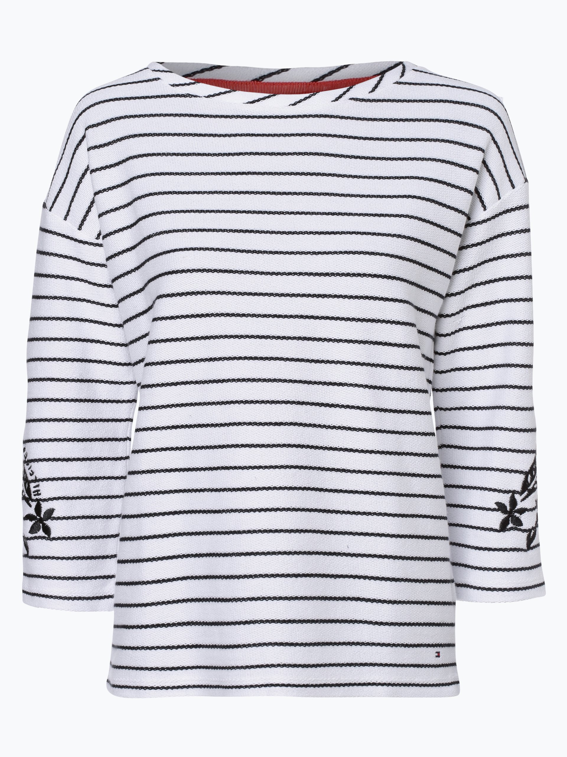 tommy hilfiger damen sweatshirt schwarz gestreift online. Black Bedroom Furniture Sets. Home Design Ideas