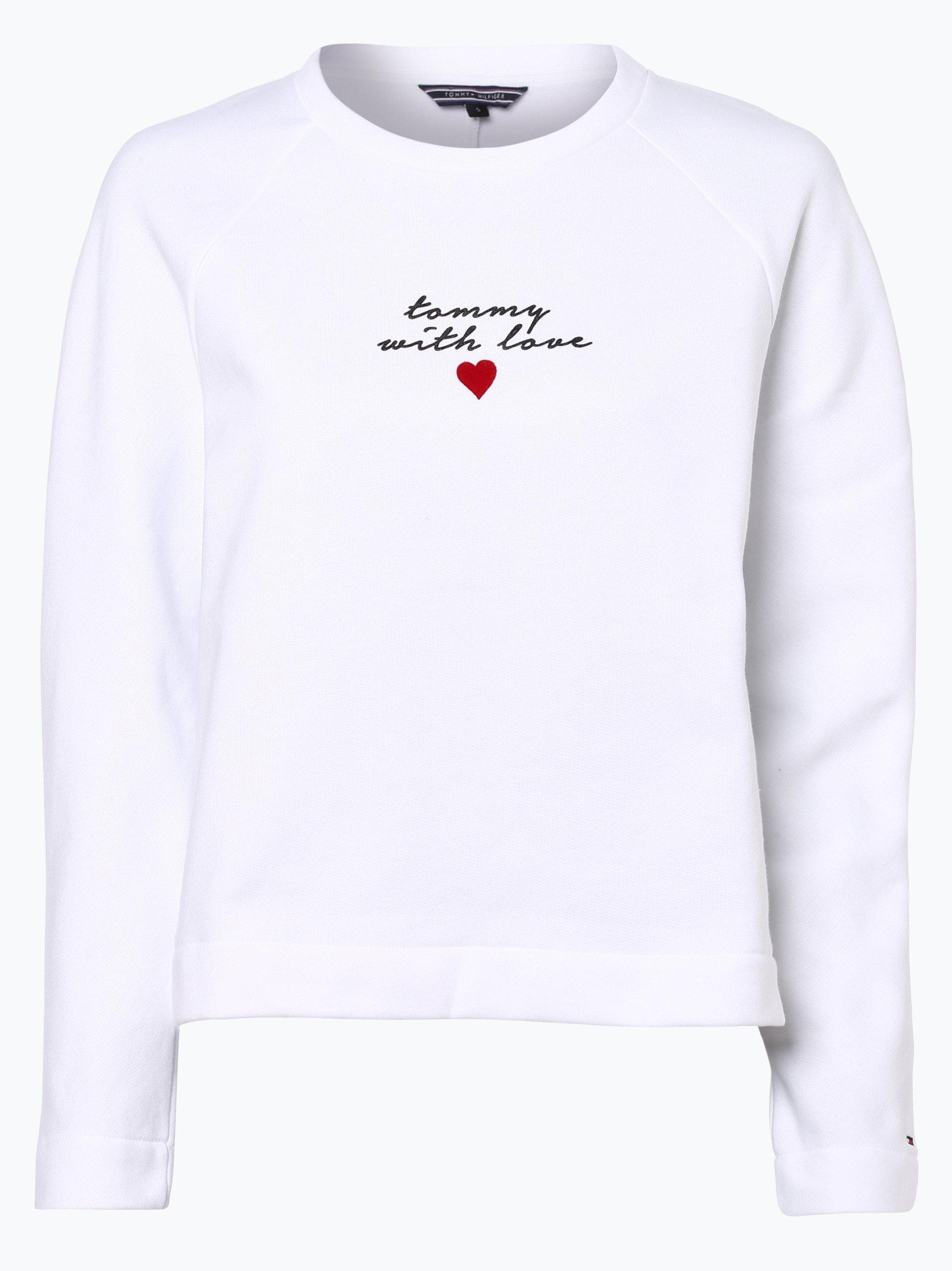 tommy hilfiger damen sweatshirt wei uni online kaufen. Black Bedroom Furniture Sets. Home Design Ideas