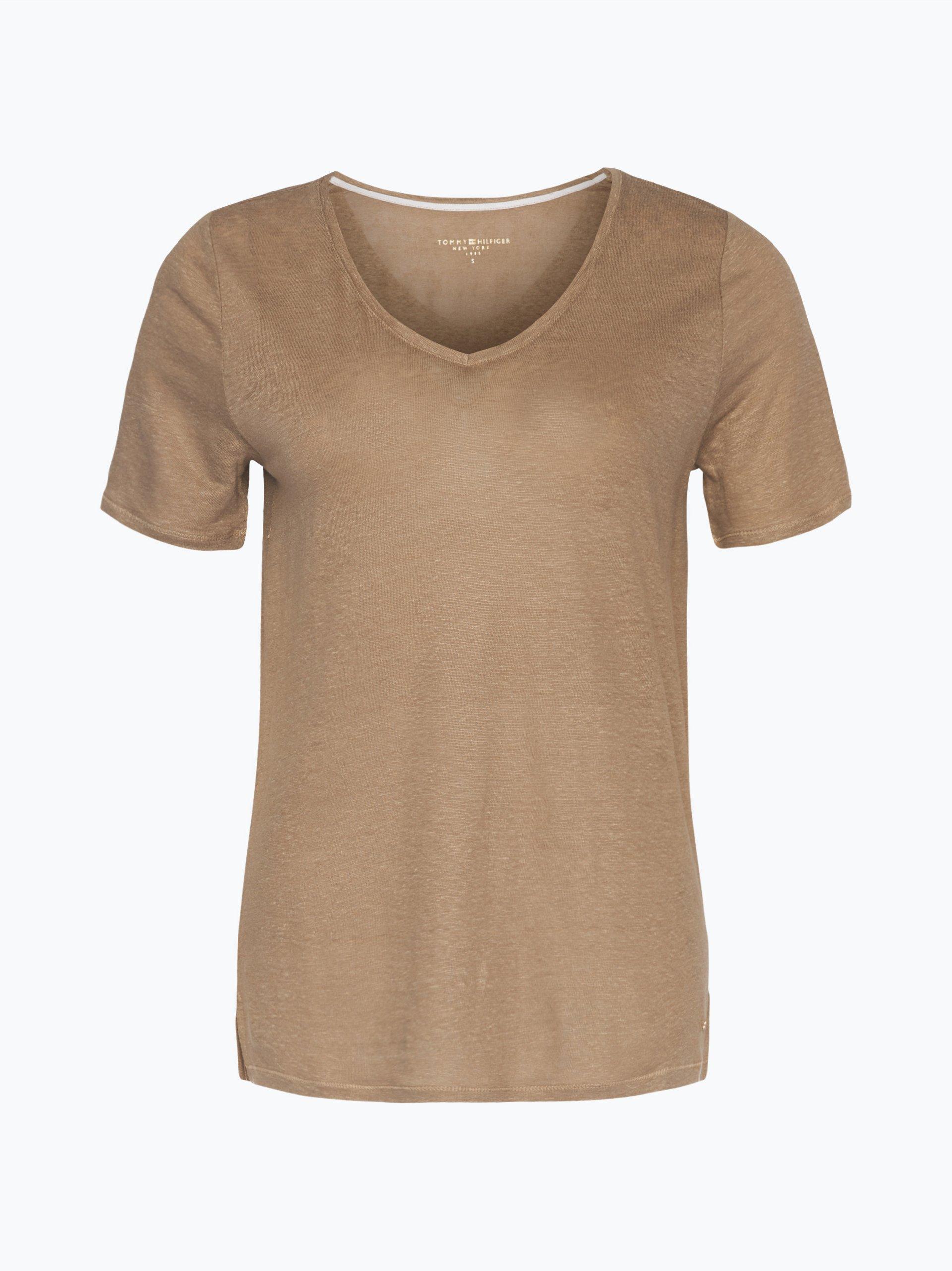 tommy hilfiger damen t shirt aus leinen clarissa taupe. Black Bedroom Furniture Sets. Home Design Ideas