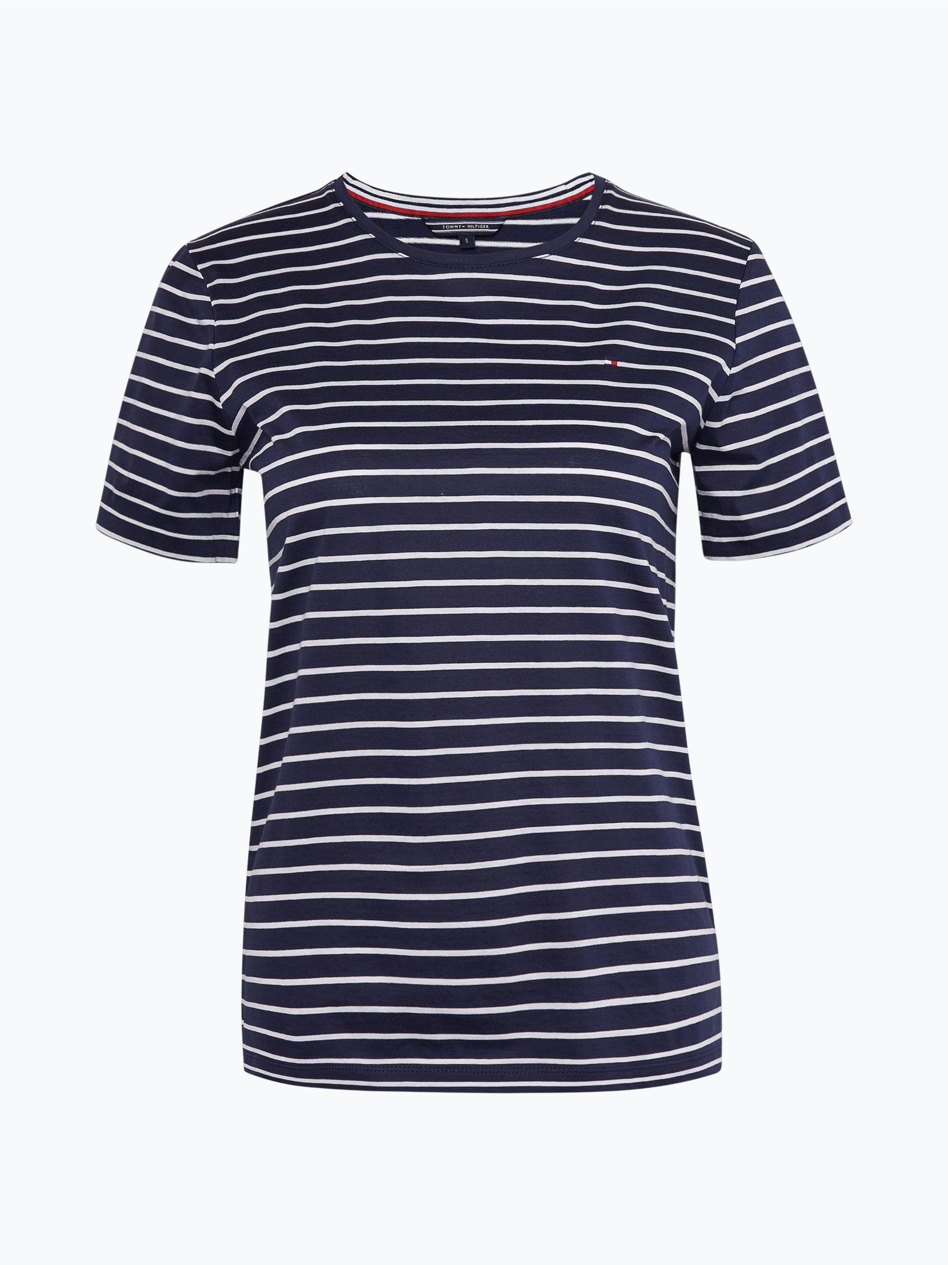 tommy hilfiger damen t shirt conny marine gestreift. Black Bedroom Furniture Sets. Home Design Ideas