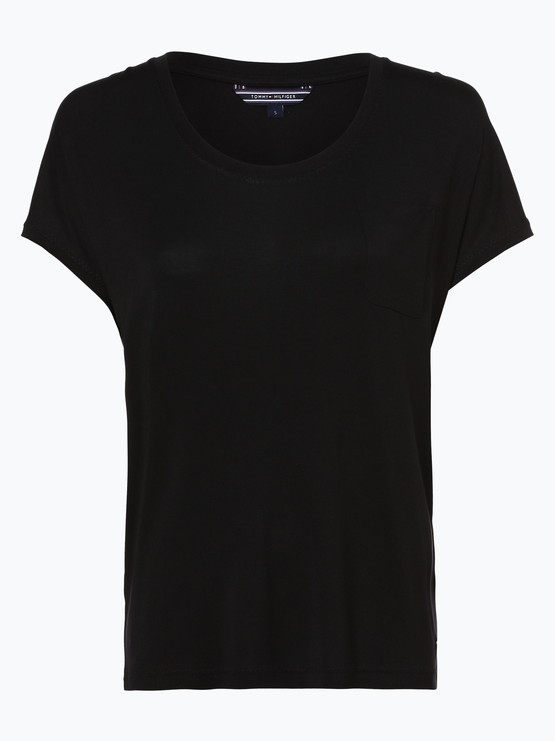 tommy hilfiger damen t shirt draser schwarz uni online. Black Bedroom Furniture Sets. Home Design Ideas