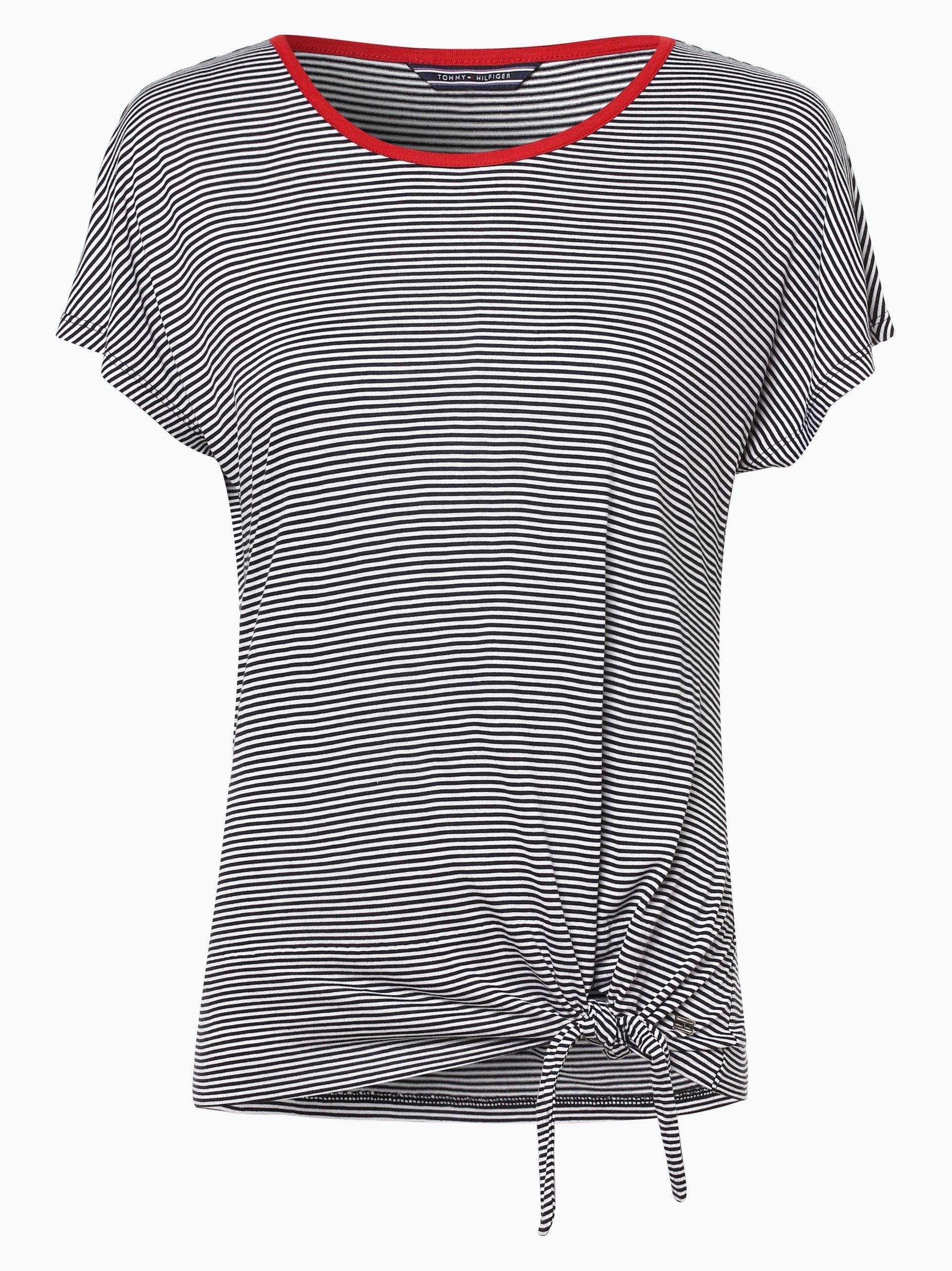tommy hilfiger damen t shirt ema marine gestreift online. Black Bedroom Furniture Sets. Home Design Ideas